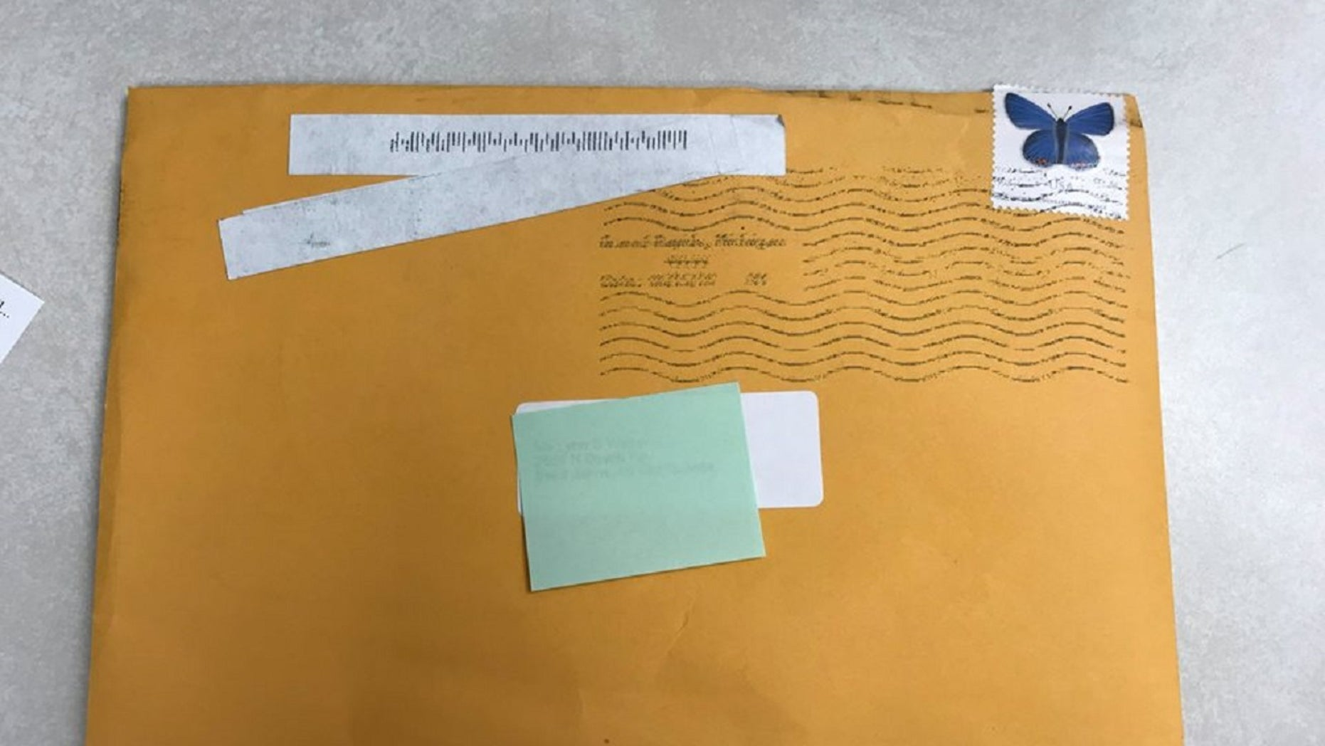Police in St. Johns, Michigan, announced on Facebook this week that several people have received similar envelopes in the mail.