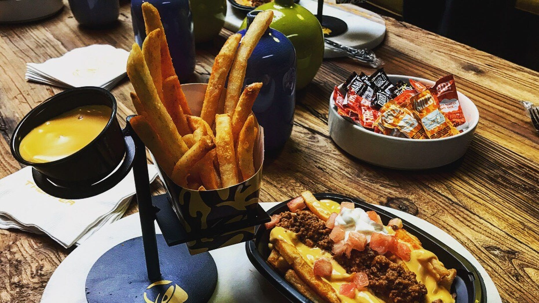 Taco Bell debuts its new $1 Nacho Fries for a limited time nationwide.