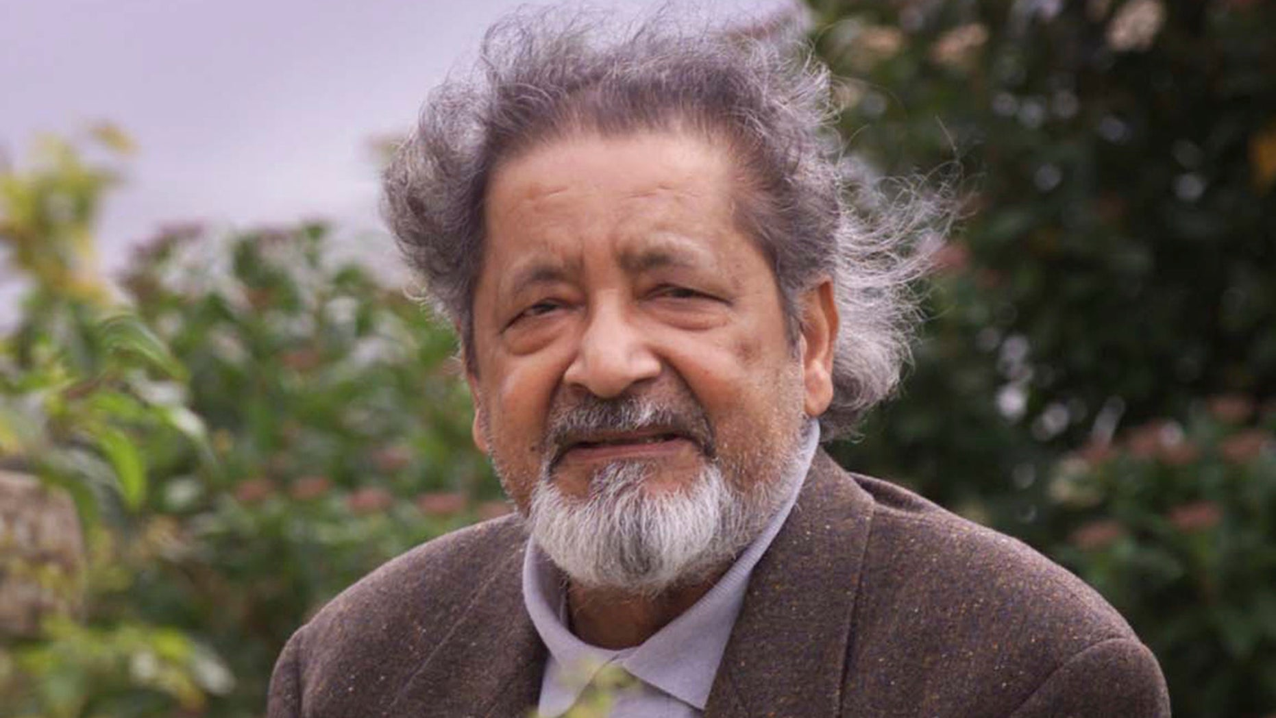 British author V.S. Naipaul is seen in Salisbury, England, in a 2001 photo.