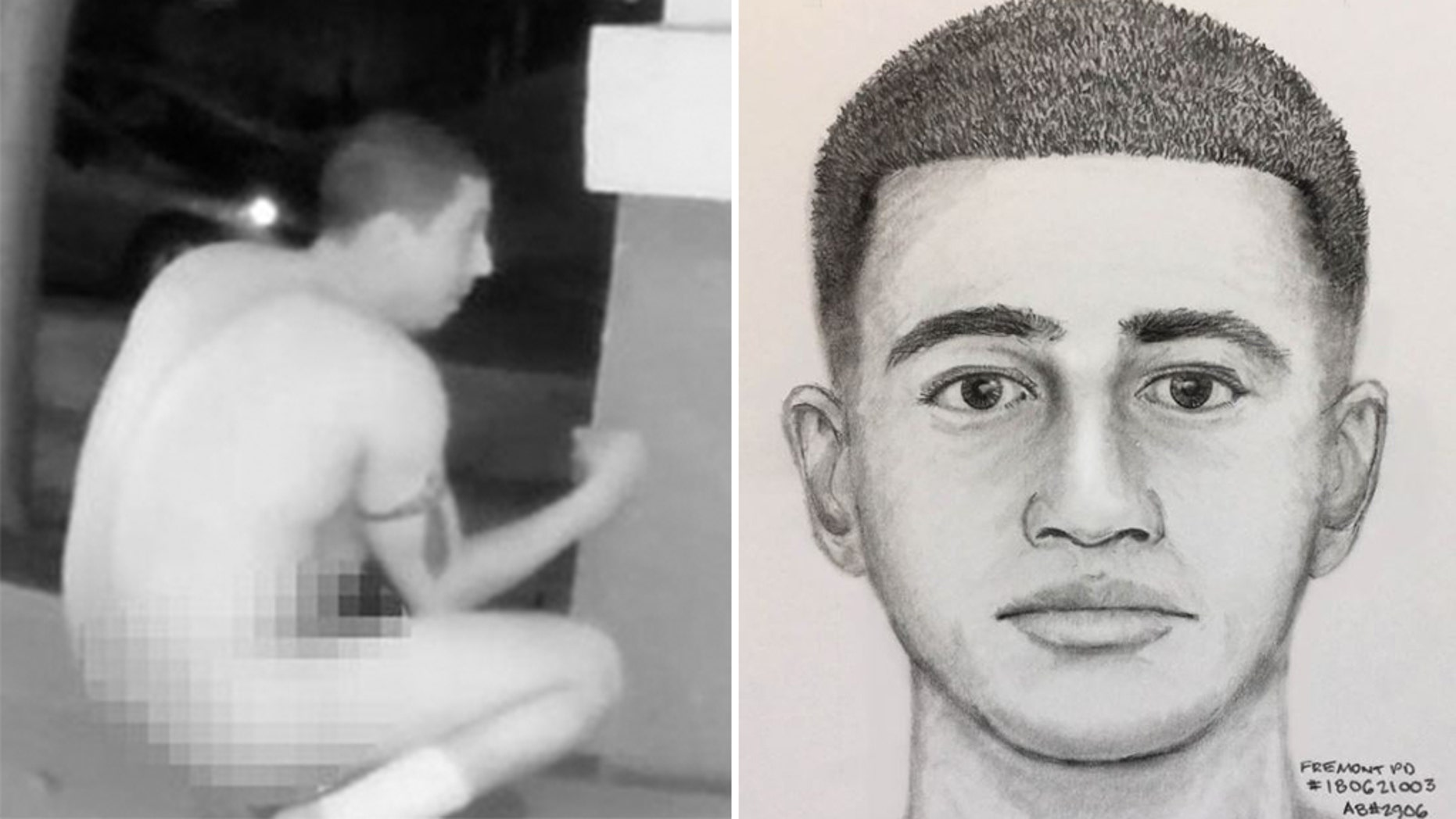 Authorities are seeking a suspect in California connected with multiple indecent exposure incidents. (Pleasanton and Fremont Police Department)