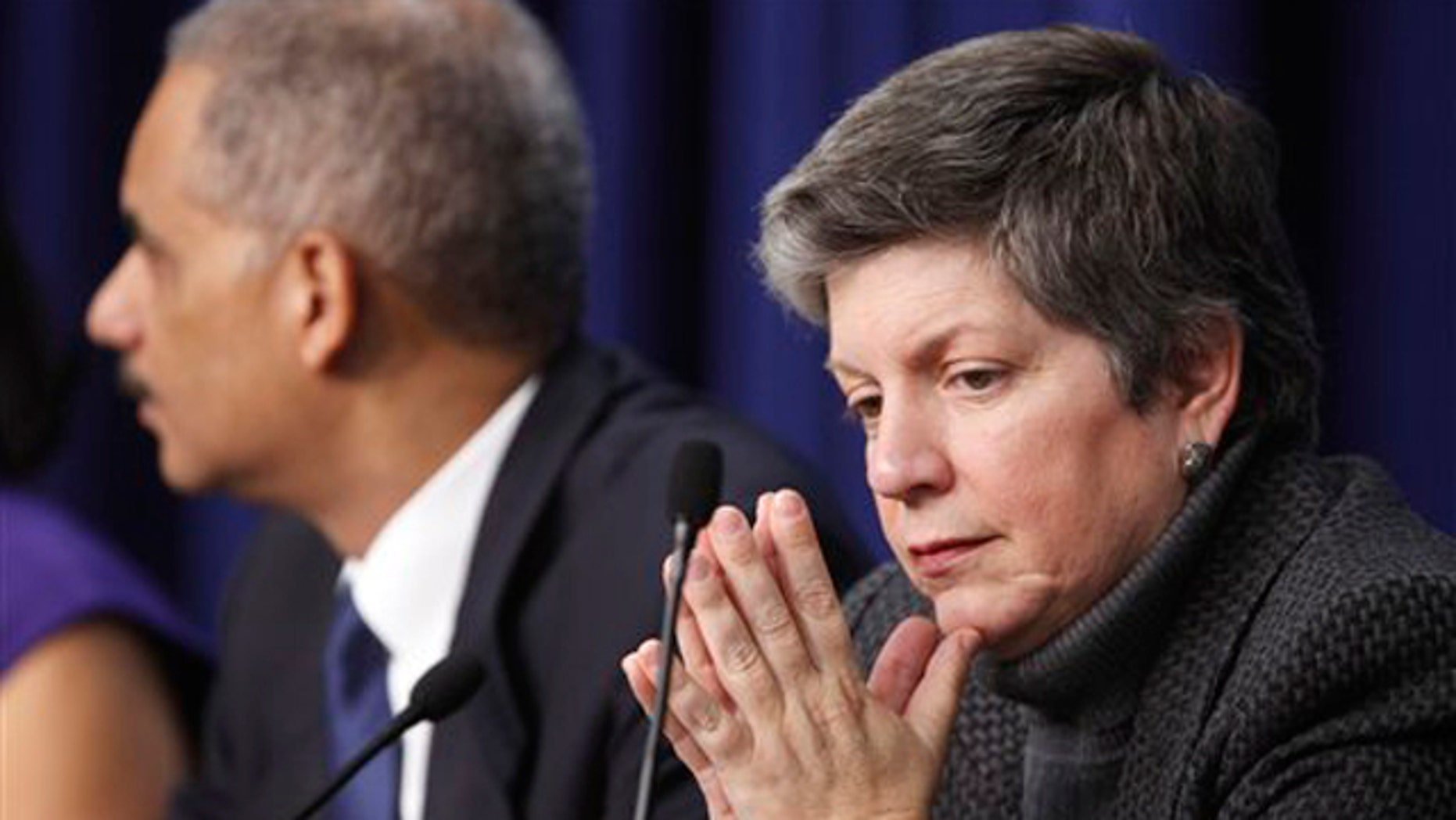 Homeland Security Secretary Janet Napolitano attends a forum on intellectual property theft Dec. 14 in Washington.