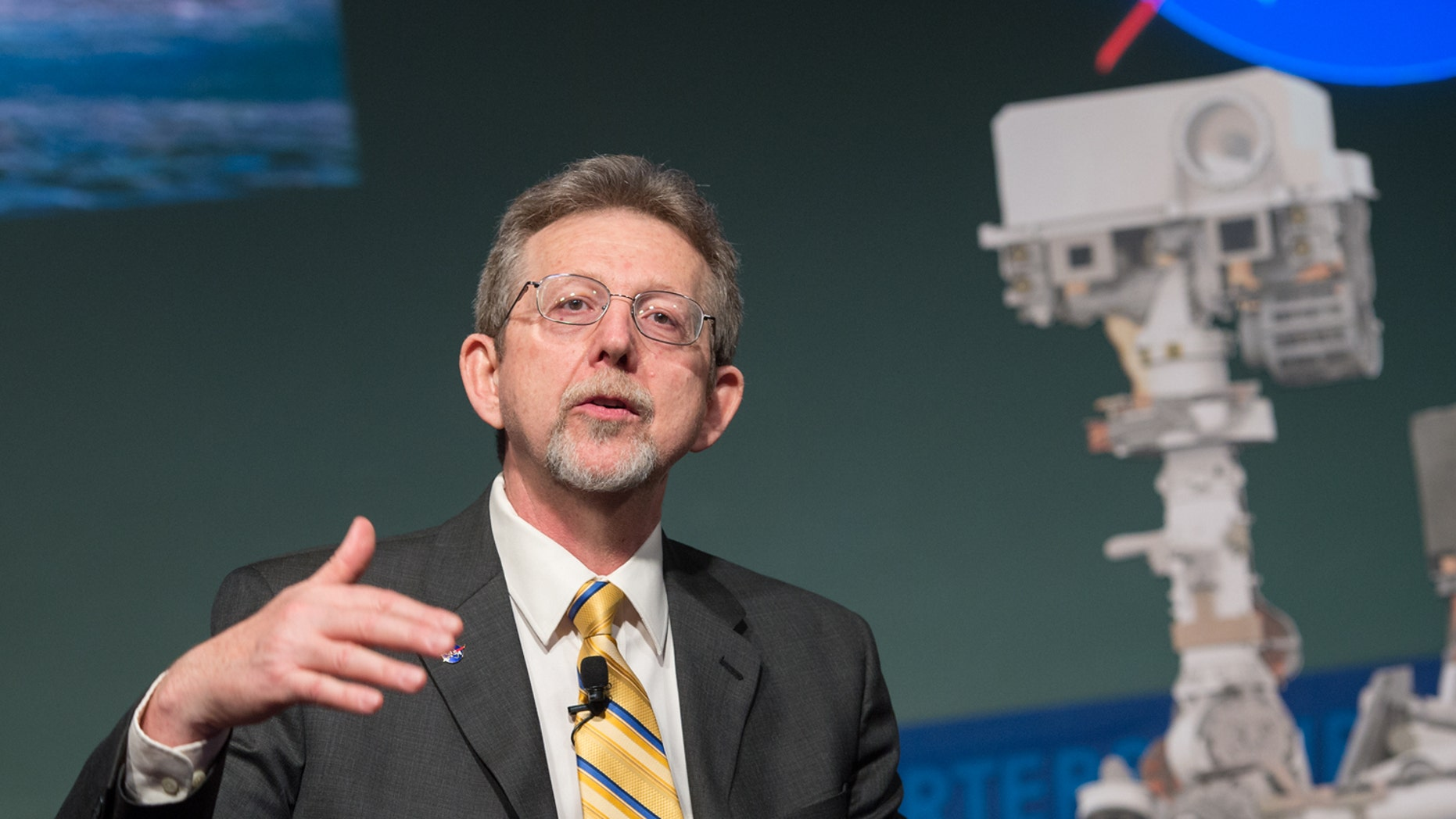 Jim Green, the head of NASA's Planetary Science Division shown here in 2013 at the first anniversary of the Mars rover Curiosity's landing, will become NASA chief scientist beginning May 1, 2018.