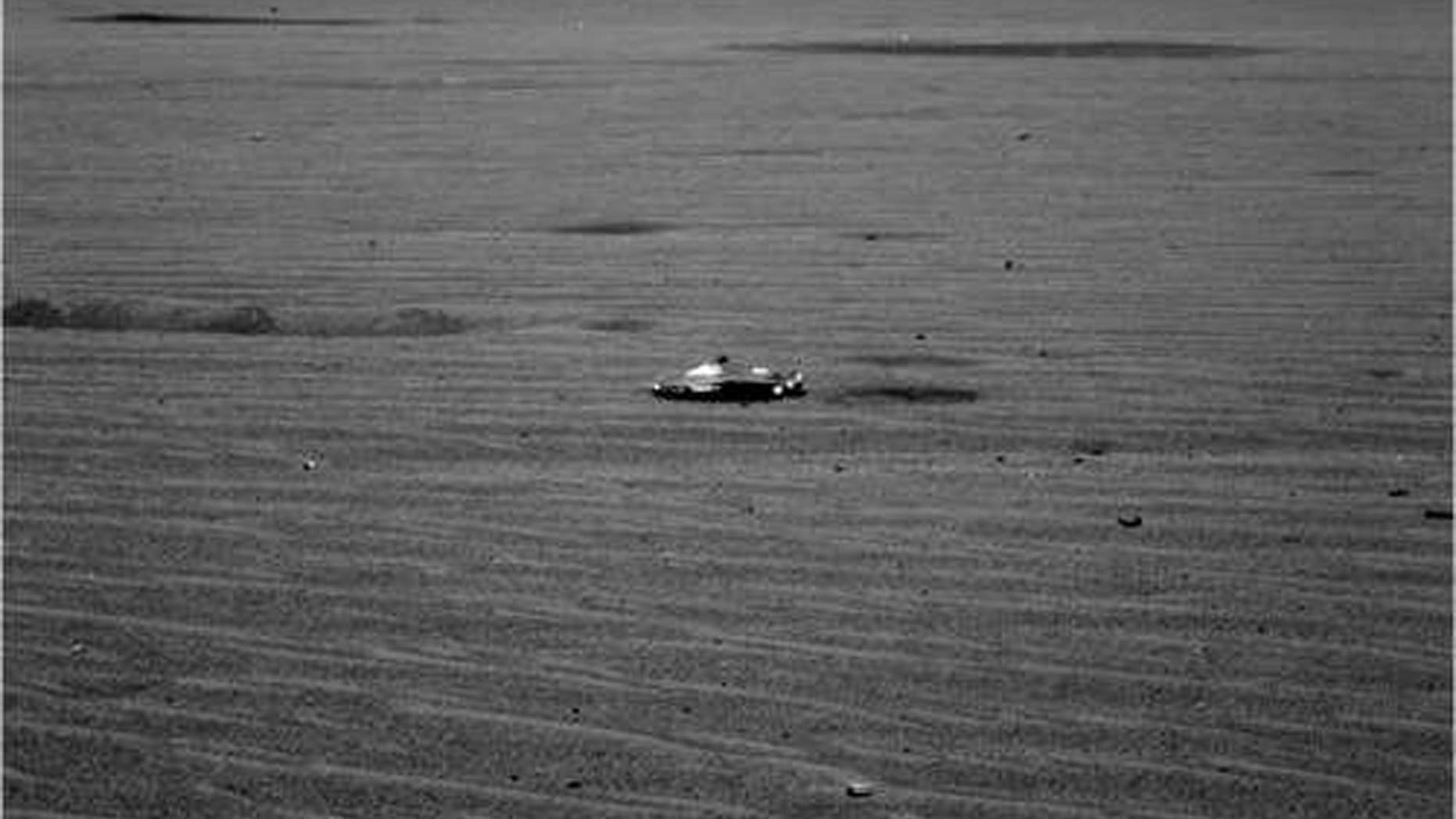 Left Panoramic Camera Non-linearized Full frame EDR acquired on Sol 348 of Opportunity's mission to Meridiani Planum at approximately 12:45:41 Mars local solar time, camera commanded to use Filter 7 (432 nm). NASA/JPL/Cornell
