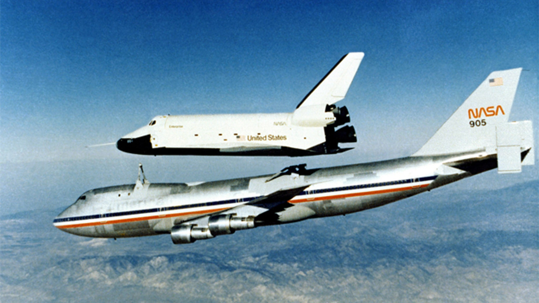The good ol' days: Space Shuttle Enterprise separates from a 747. (1977)