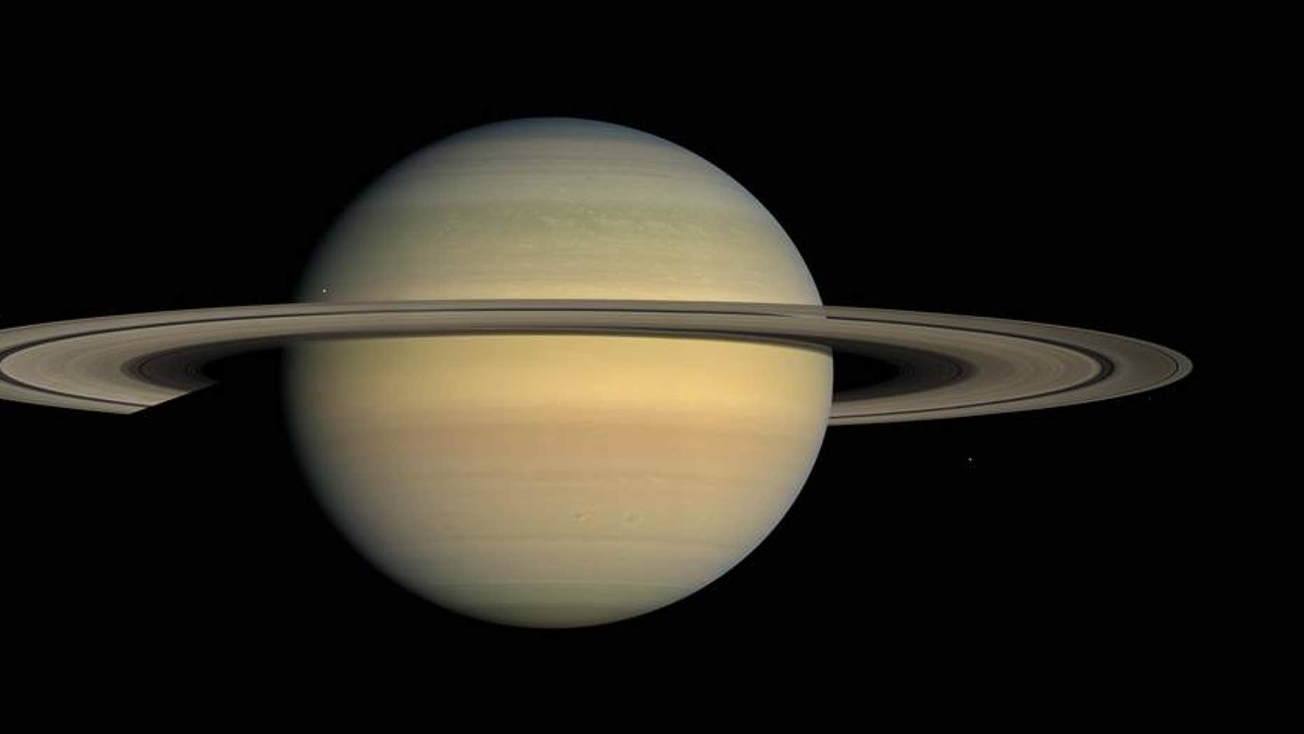 Saturn as seen by NASA's Cassini spacecraft in 2008 (Credits: NASA/JPL/Space Science Institute).