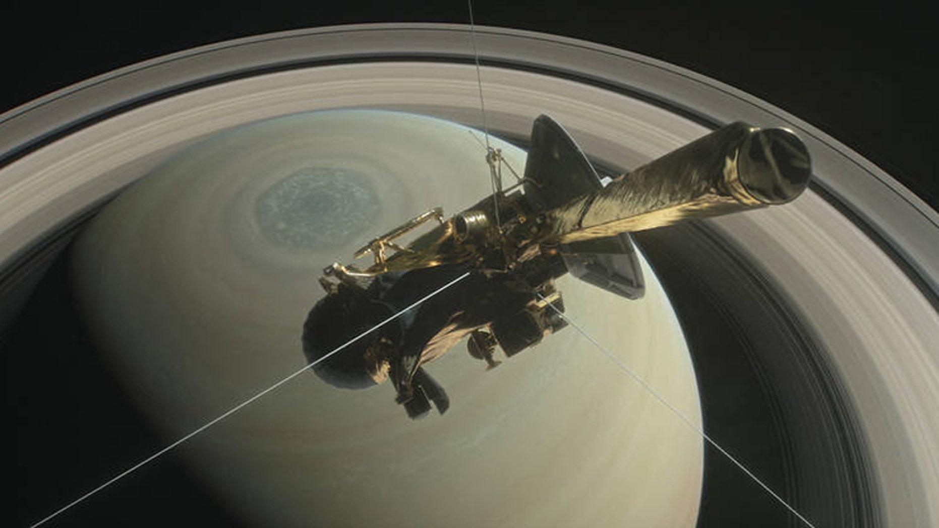 Artist's rendering of NASA's Cassini spacecraft (Credit: NASA/JPL-Caltech).