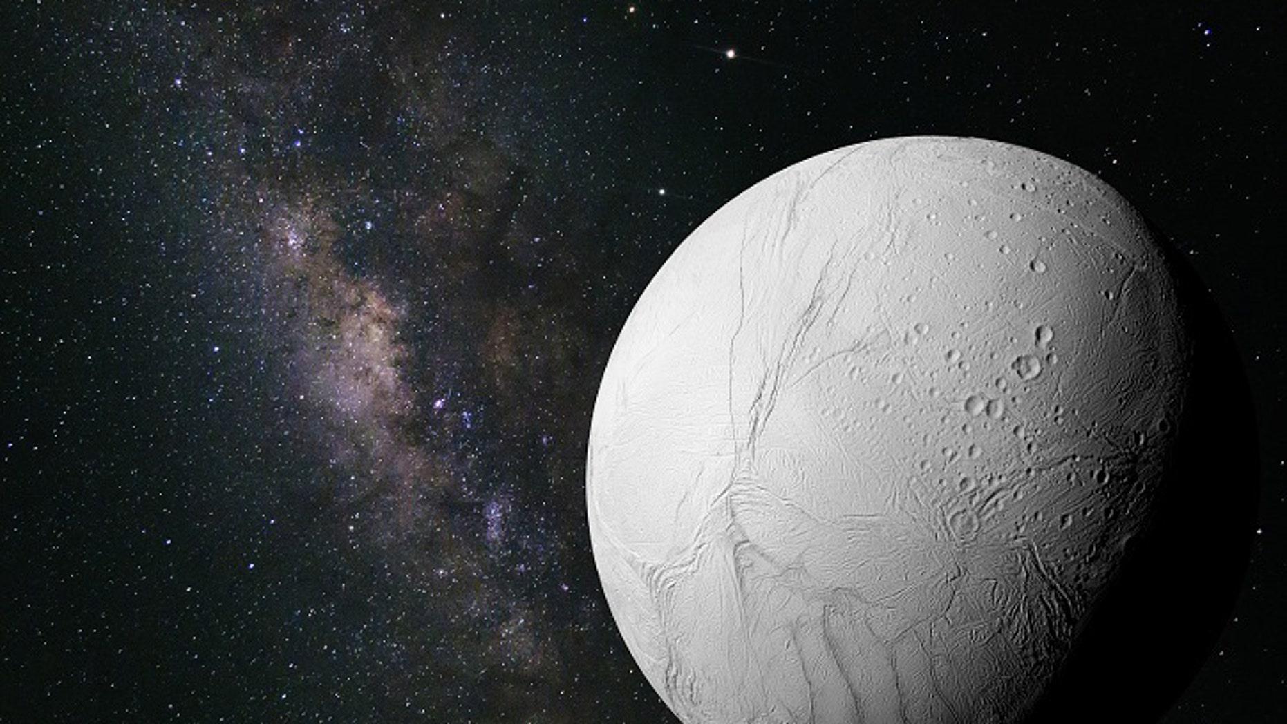 Saturn's moon Enceladus (NASA)