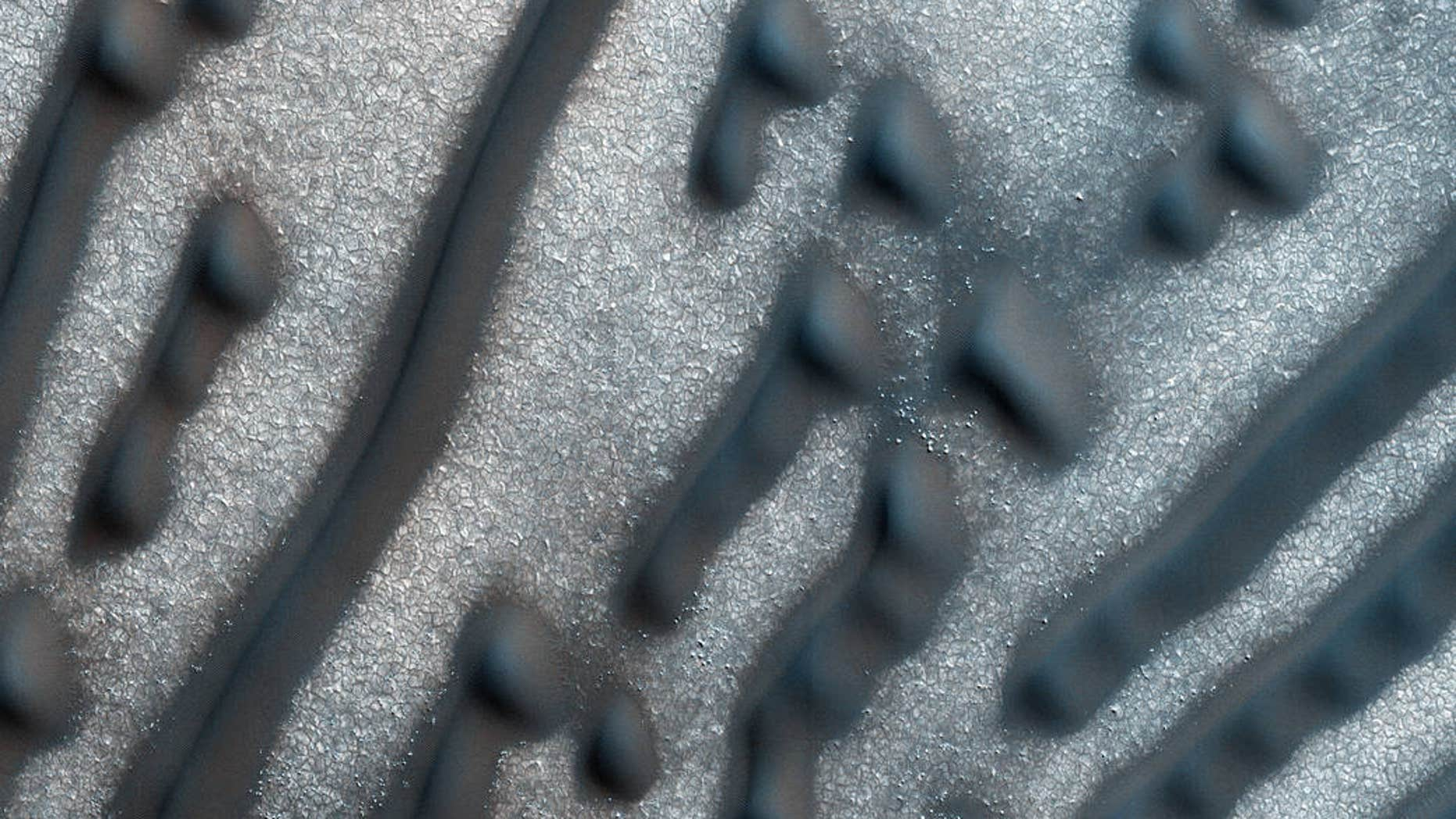 The Martian dunes (Image Credit: NASA/JPL/University of Arizona).