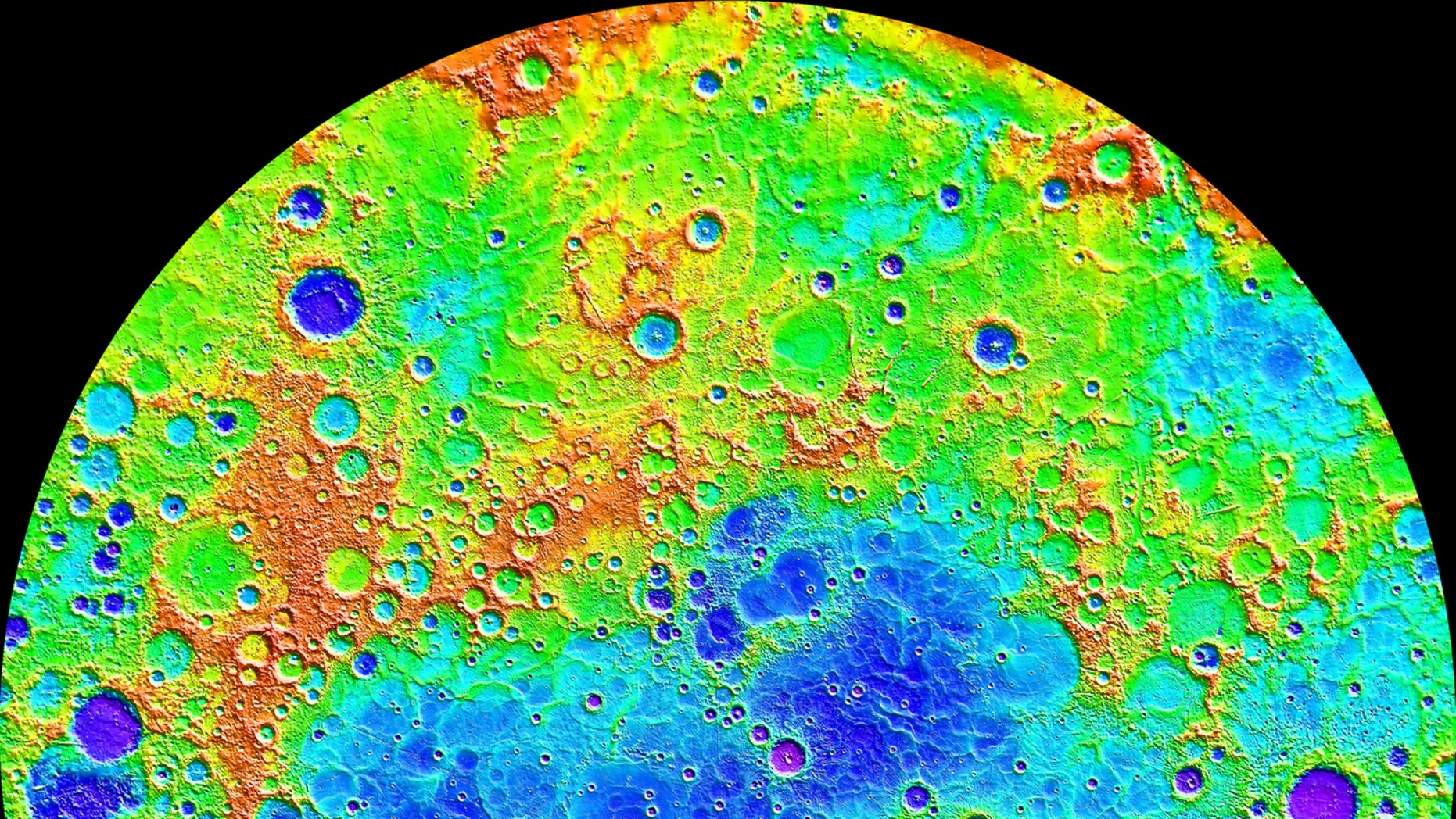 This image captured by NASA's MESSENGER spacecraft shows the varied landscapes that can be found on Mercury. Some areas appear older and heavily cratered, while other areas have younger-looking terrain. (Credit: NASA/Johns Hopkins University Applied Physics Laboratory/Carnegie Institution of Washington)