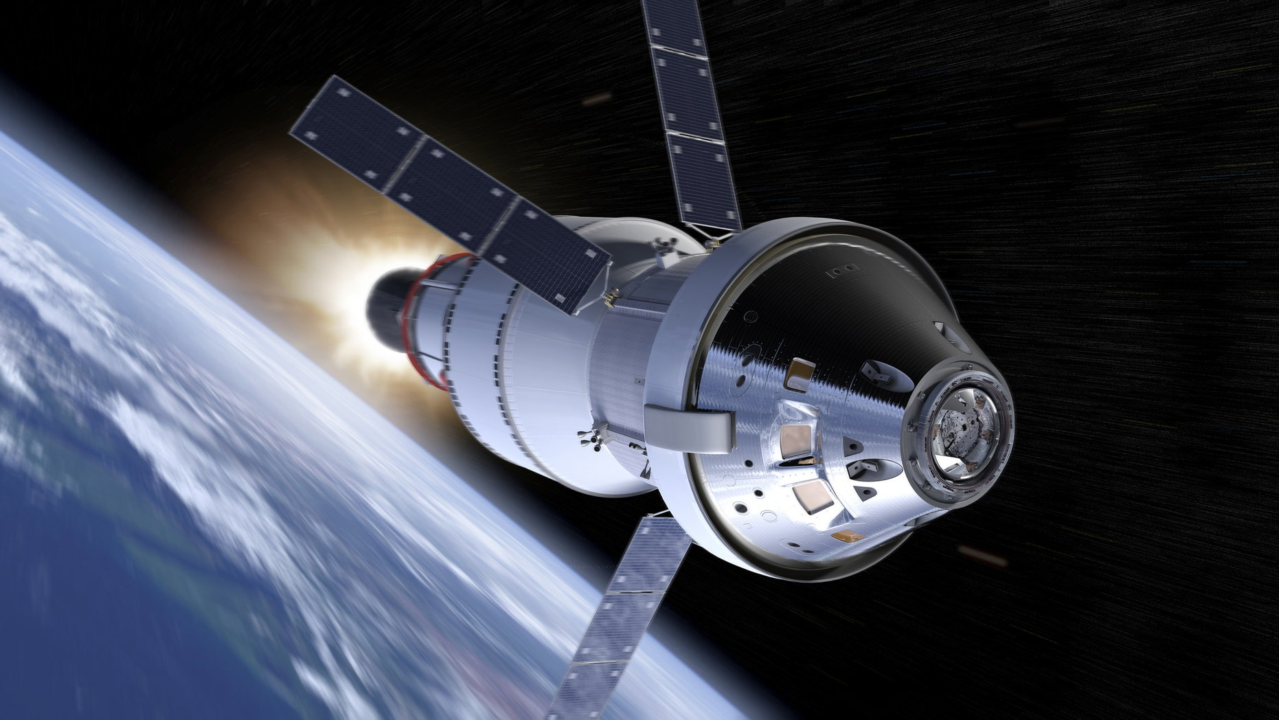 Artist's impression of the Orion spacecraft (NASA).