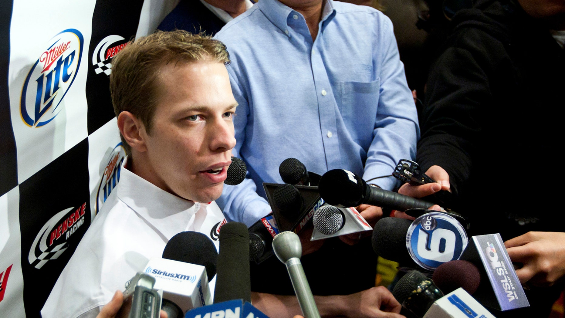 Racing driver Brad Keselowski in 2012. He was something of an inspiration to Kevin Sharp, who was himself a driver.