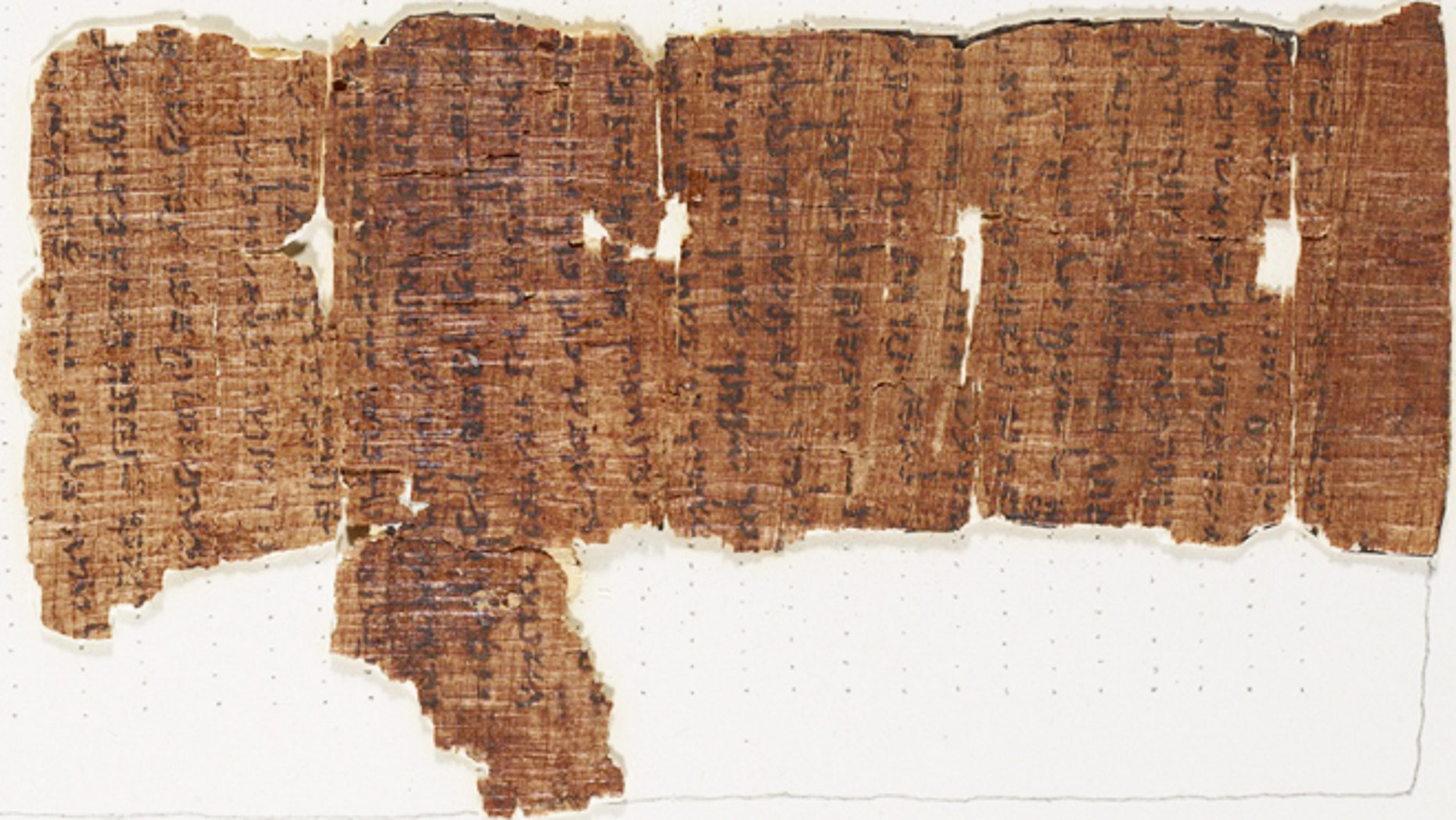 """The """"Nash Papyrus,"""" which contains the text of the Ten Commandments."""