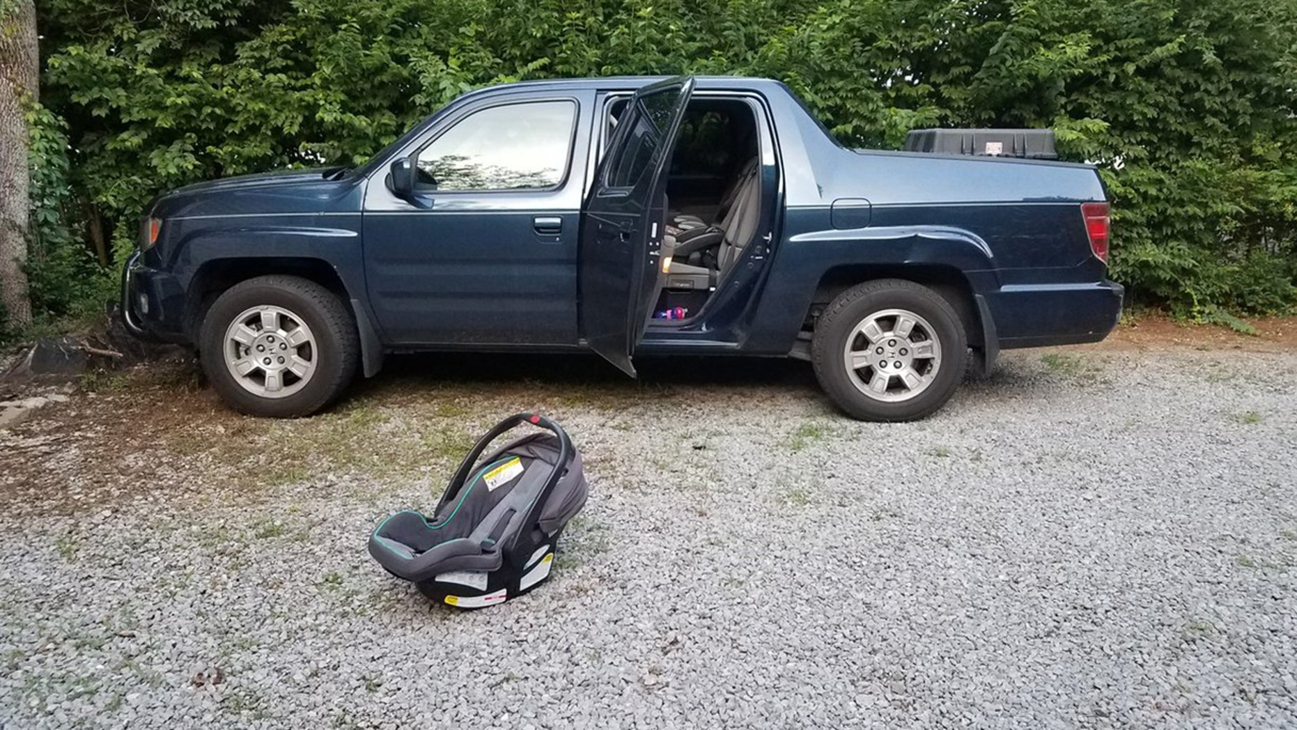 A 1-year-old girl in Tennessee died after being left inside a hot pickup truck all day Wednesday, police said.