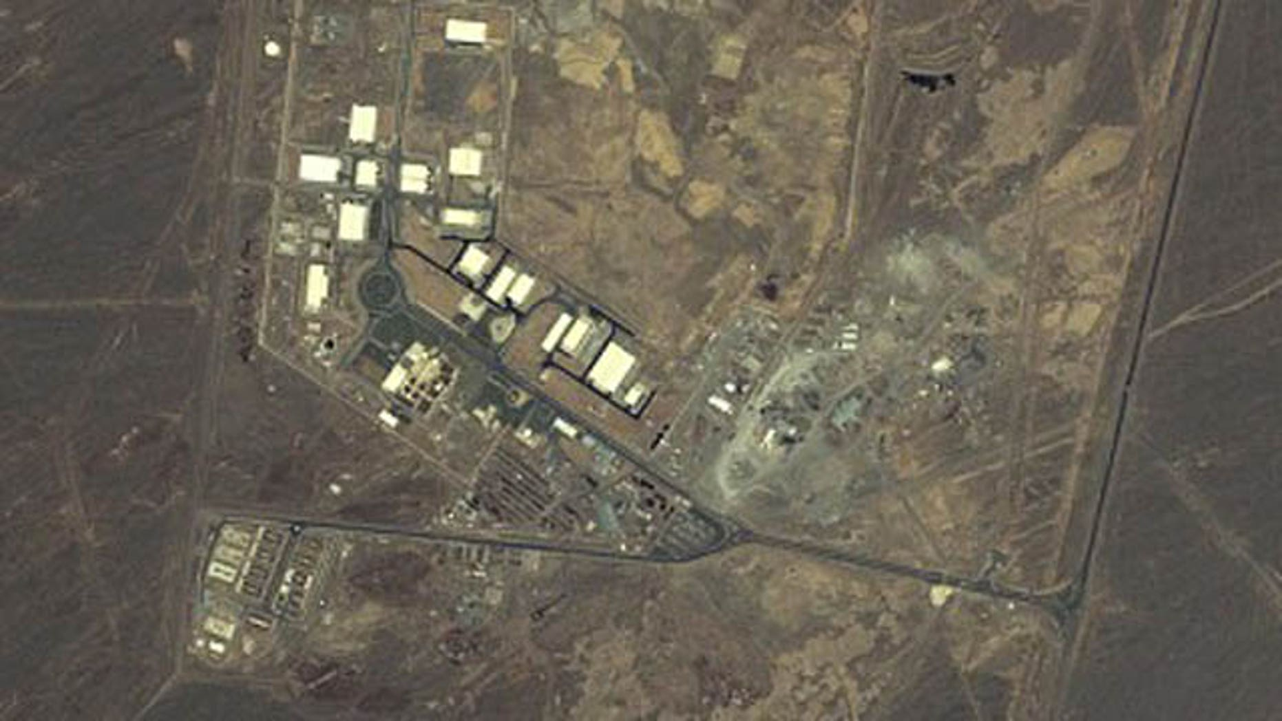 An aerial view of Iran's nuclear facility in Natanz.