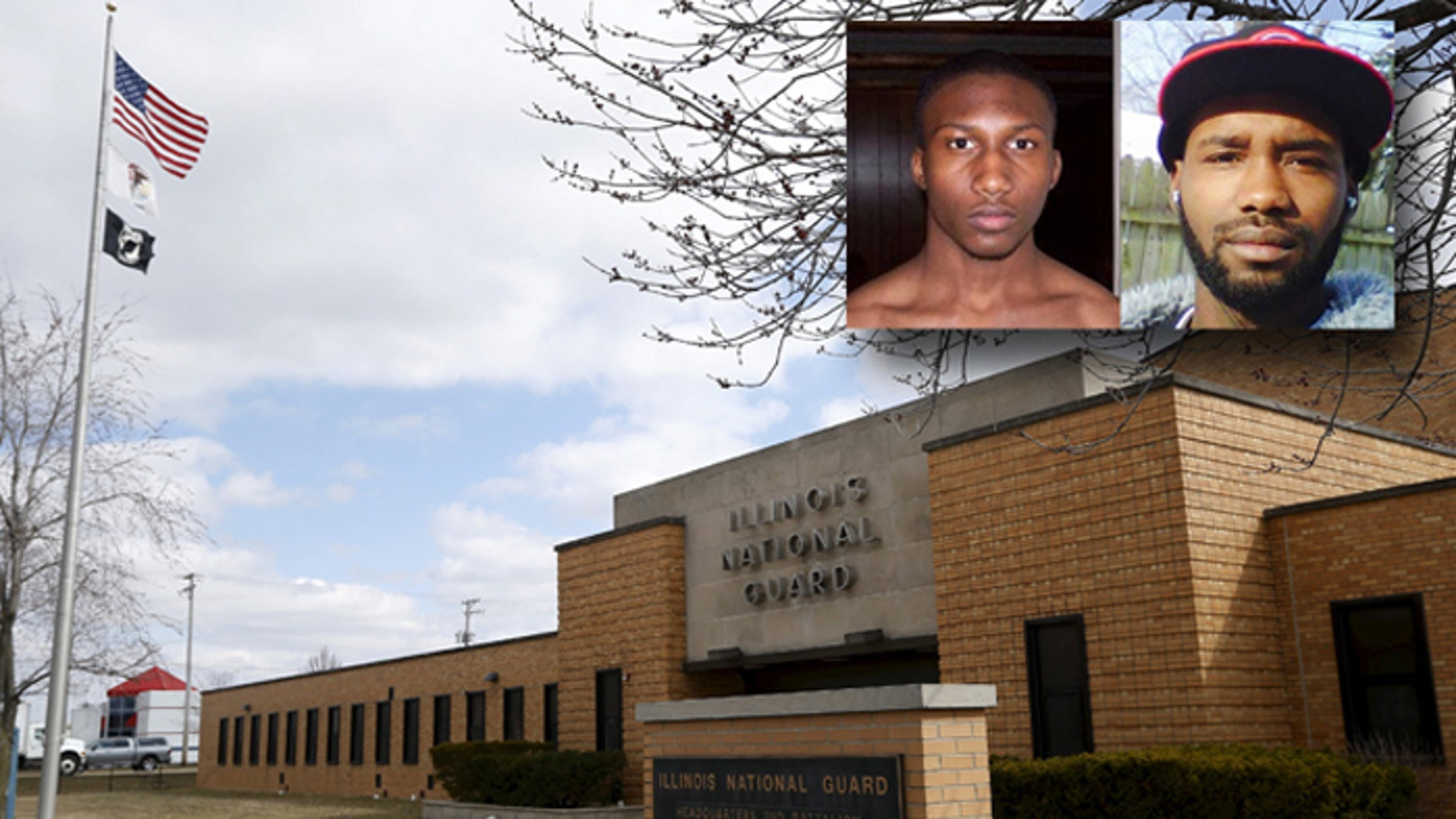 Hasan Edmonds, (inset, I.), planned to join ISIS, while his cousin, Jonas Edmonds, plotted to kill 150 at the Joliet Armory, where Hasan's National Guard unit was based. (Clarion Project, Reuters)