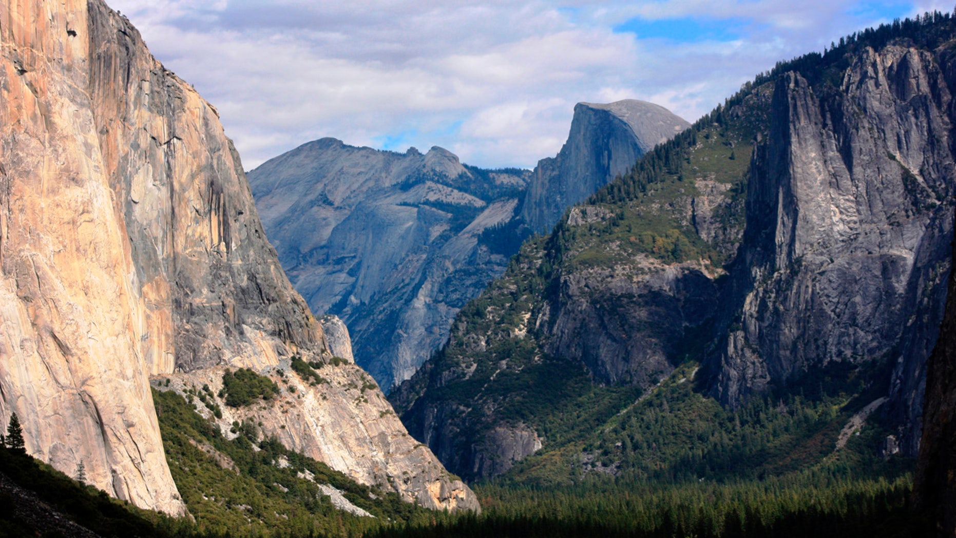 Oct. 2, 2013: This photo shows a view seen on the way to Glacier Point trail in Yosemite National Park, Calif.