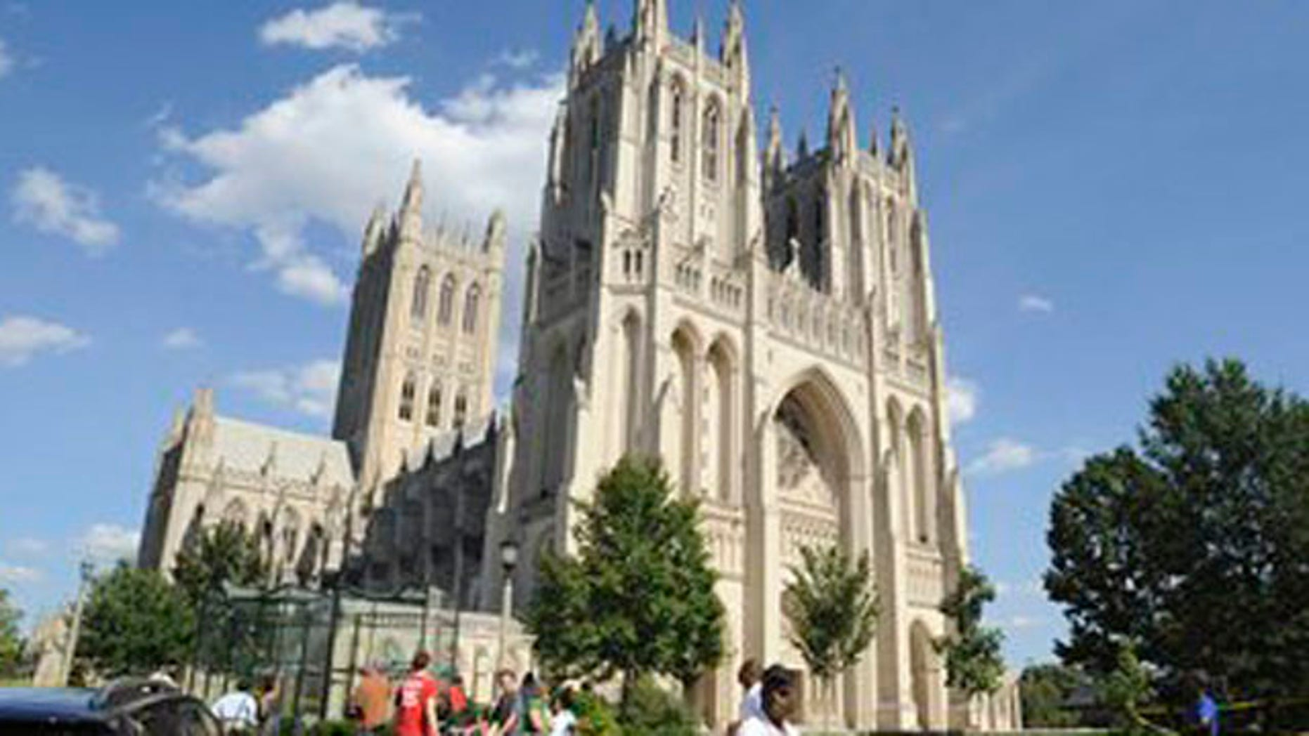 The National Cathedral is set to remove Confederate battle flag images from two stained glass windows.