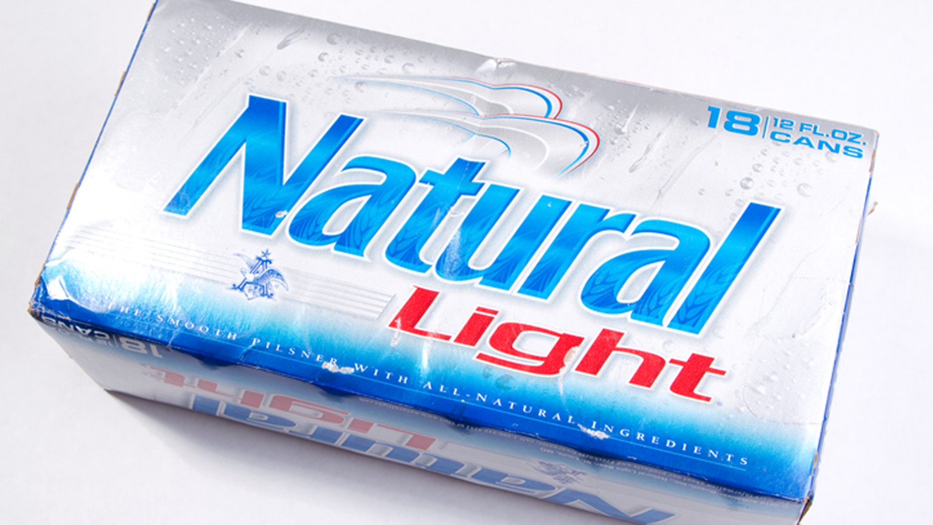 Seattle, Washington, United States - August 20, 2011: Unopened 18 Pack of Natural Light Beer isolated on white.