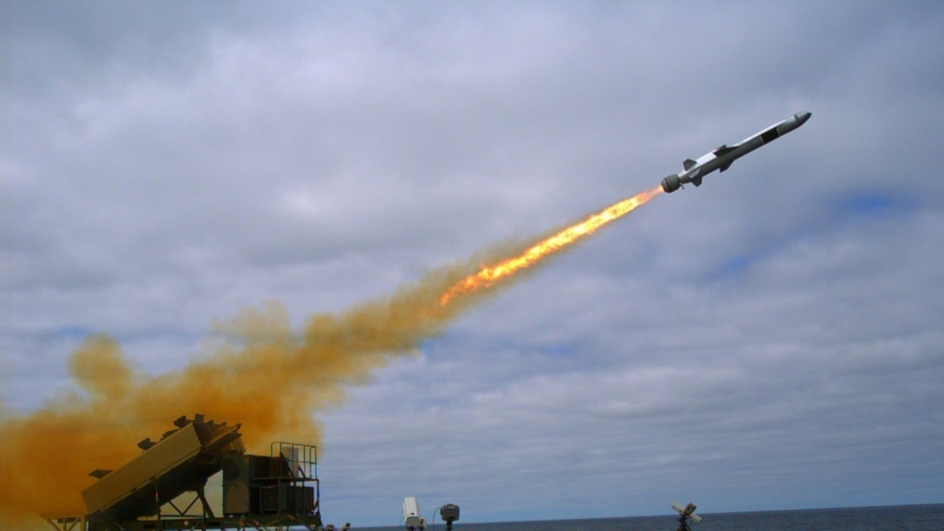 File photo - A Kongsberg Naval Strike Missile (NSM) is launched from the littoral combat ship USS Coronado (LCS 4) during missile testing operations off the coast of Southern California, Sept. 23, 2014 (U.S. Navy photo by Mass Communication Specialist 2nd Class Zachary D. Bell/Released)