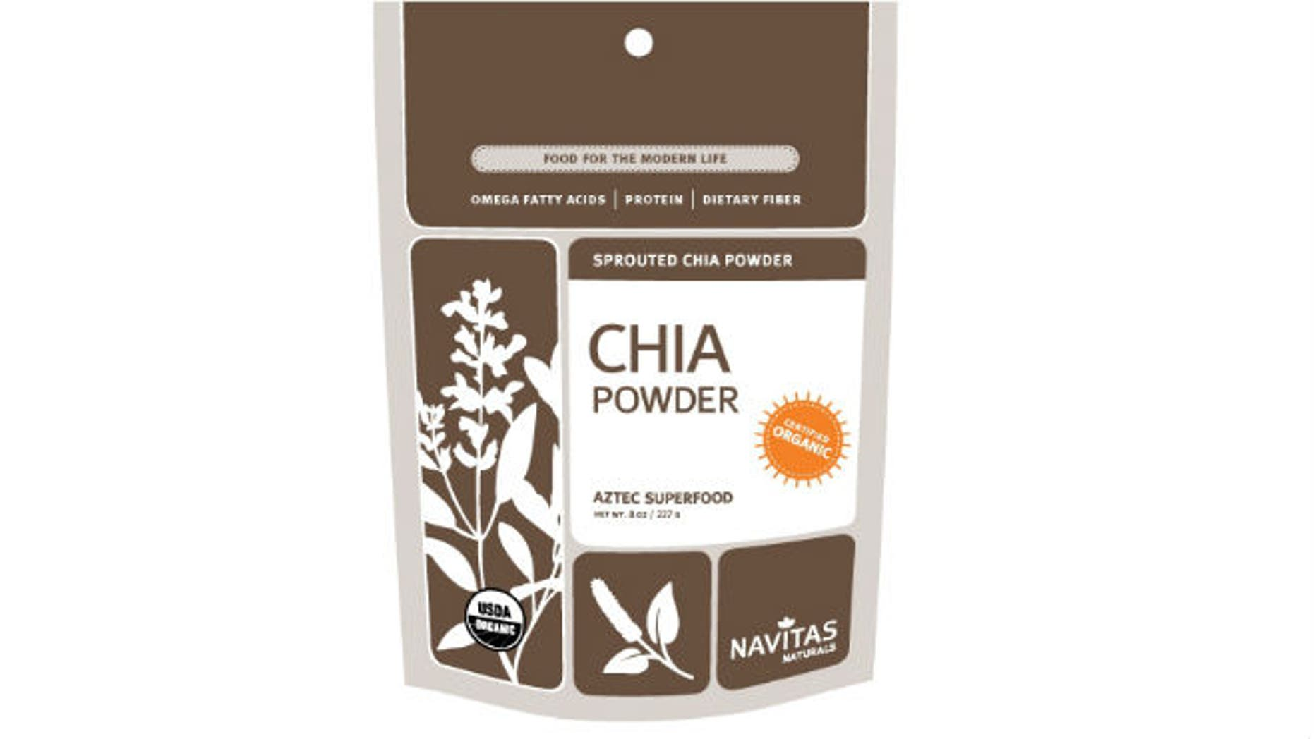 Navitas Naturals is one brand voluntarily recalling chia powder after a salmonella outbreak (Image courtesy of navitasnaturals.com)