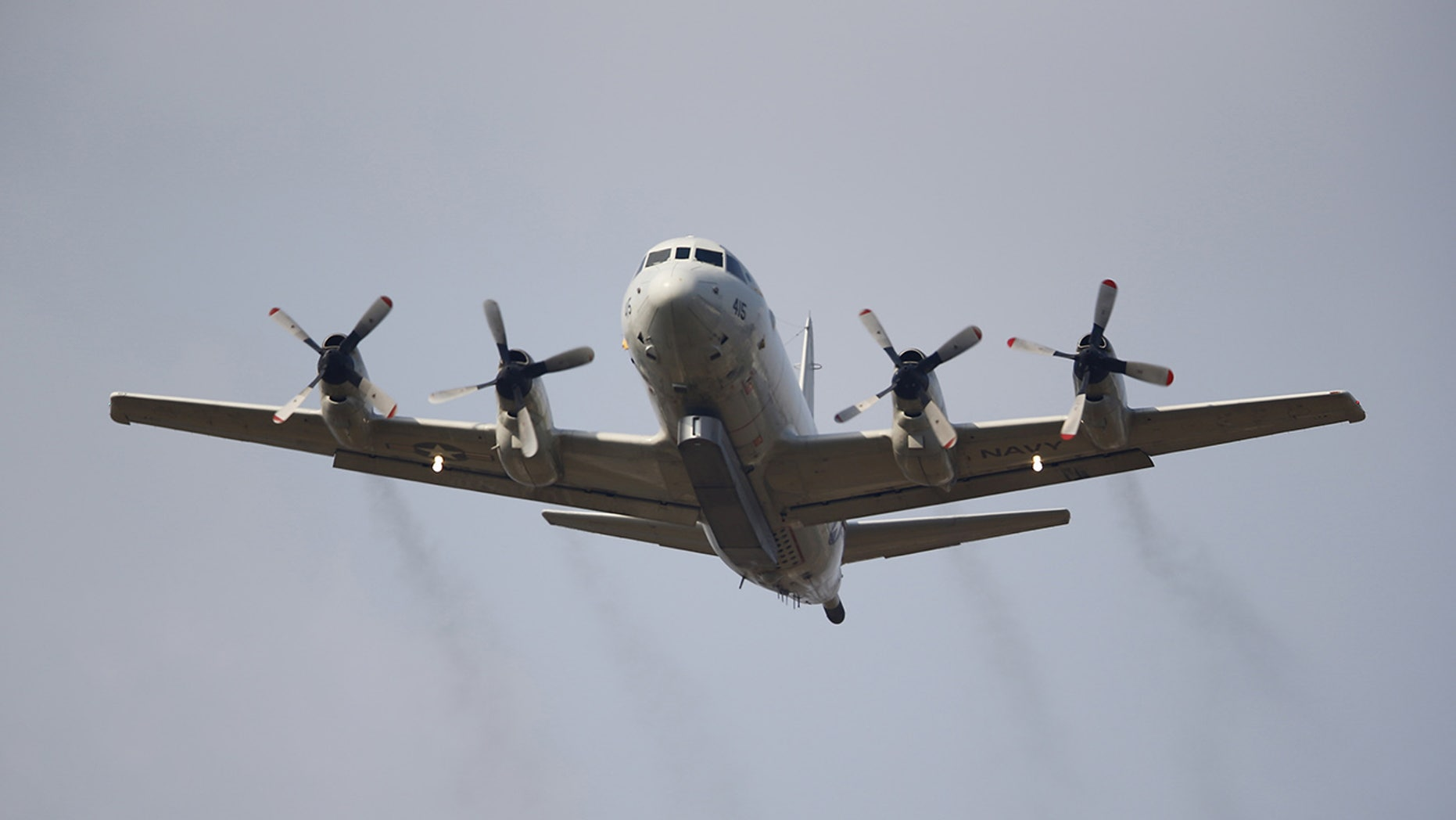 A US Navy P-3 aircraft in 2015. Chinese fighter jets buzzed a P-3 earlier this week, a US defense official said.