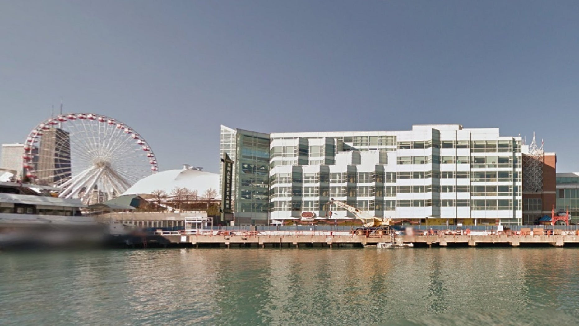 A collision Saturday at Chicago's Navy Pier, involving a taxi and an SUV, left eight pedestrians injured, police say.