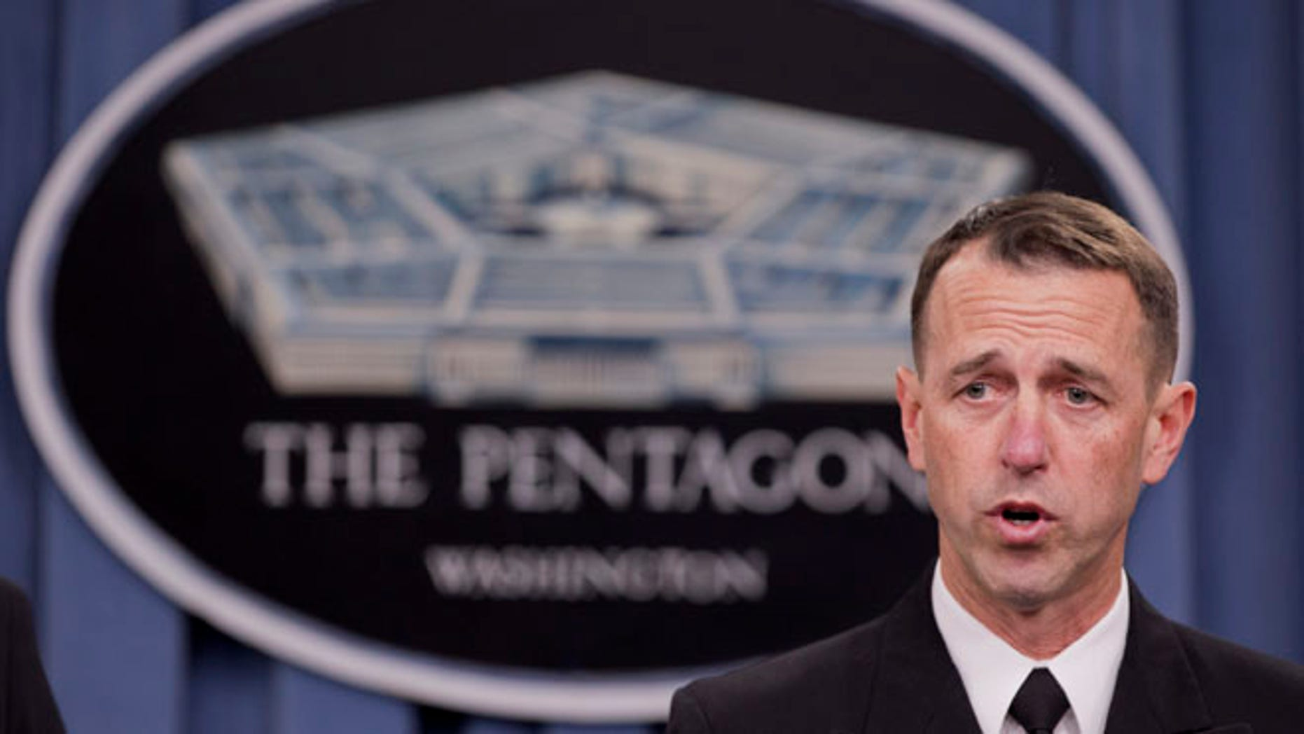 Feb. 4, 2014: Adm. John M. Richardson, director of the Naval Nuclear Propulsion Program, speaks during a news conference at the Pentagon.