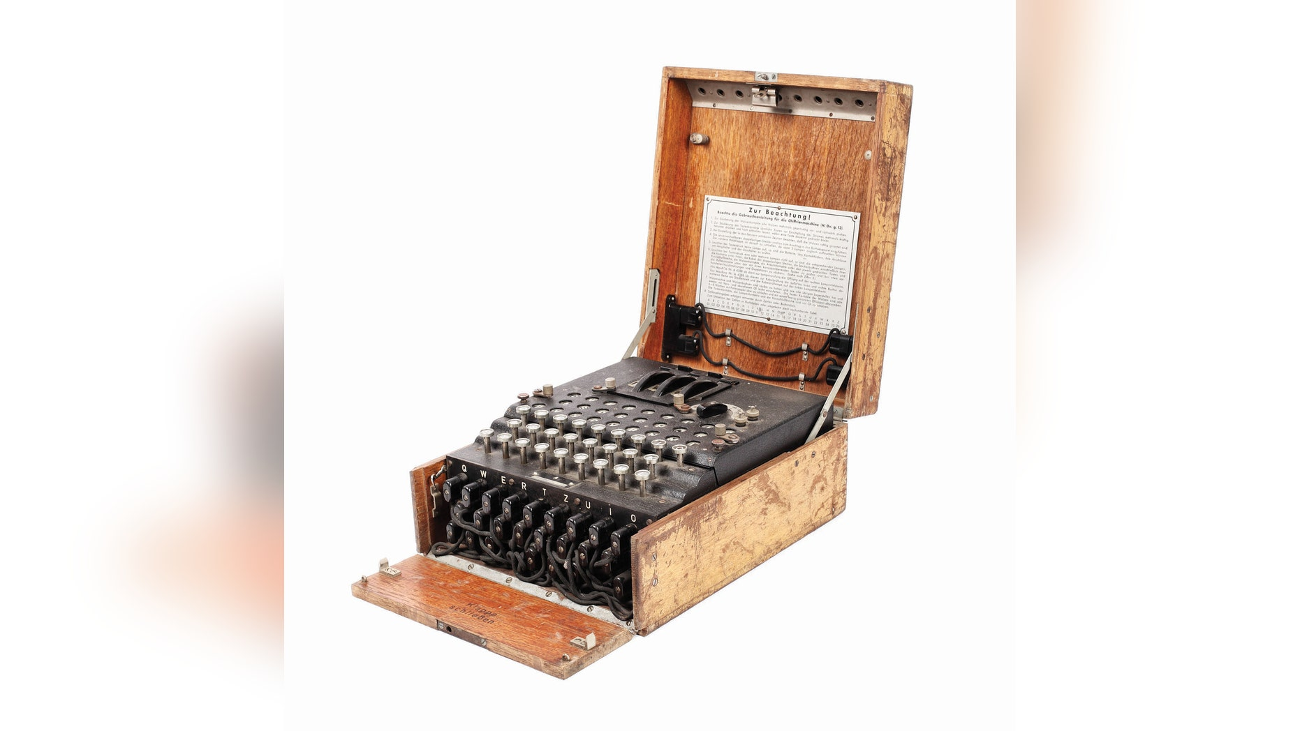 Nazi Enigma cipher machine. (Credit: Artmark press release.)