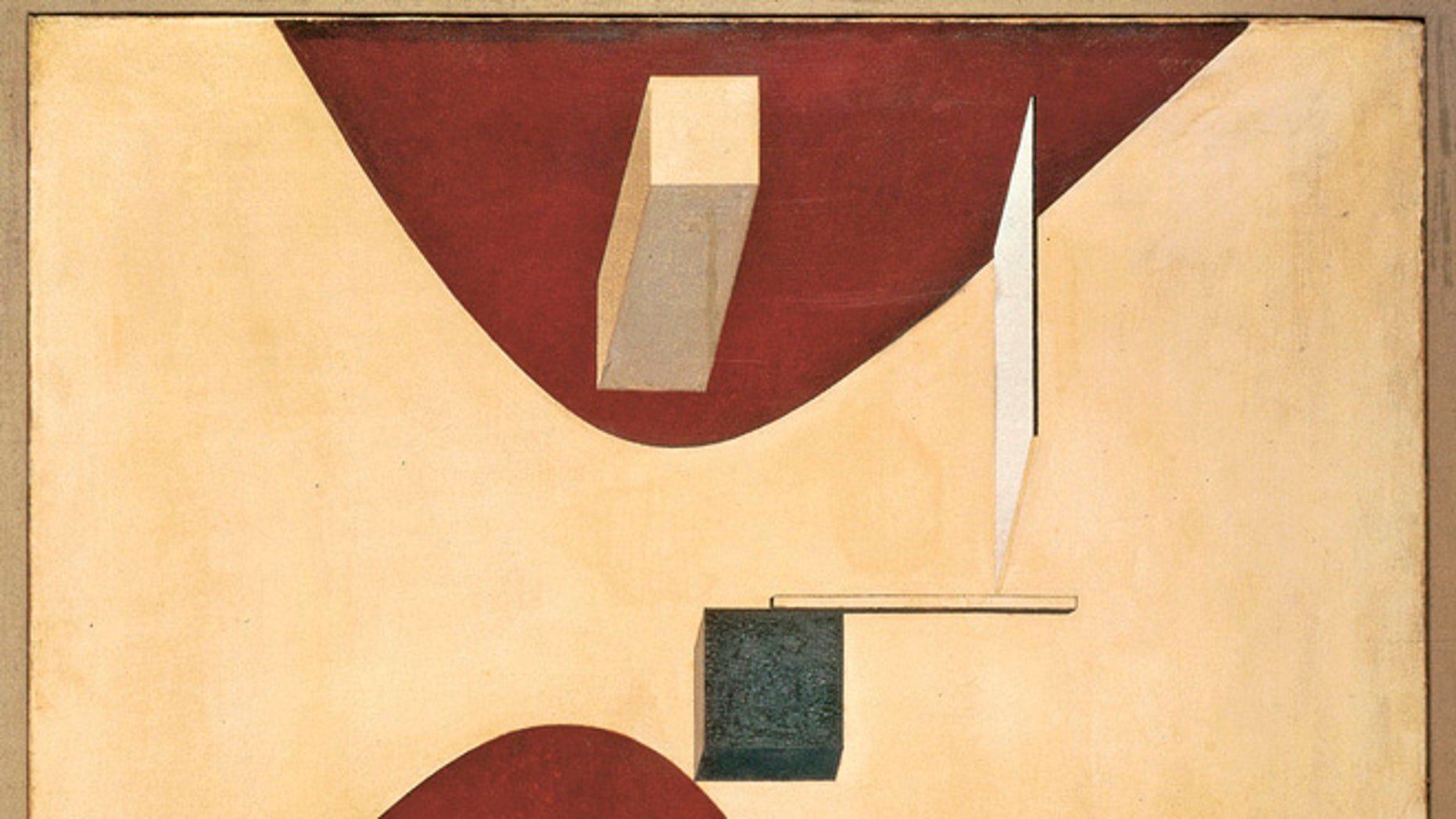Oct. 29, 2013: This undated photo provided by Van Abbemuseum in Eindhoven shows the 1919 painting Proun P23, no. 6 by El Lissitzky. A major investigation into whether art hanging in Dutch museums may have once been Nazi loot has yielded a large result: 139 suspect works, including ones by masters like Matisse, Klee and Kandinsky, according to The Associated Press.
