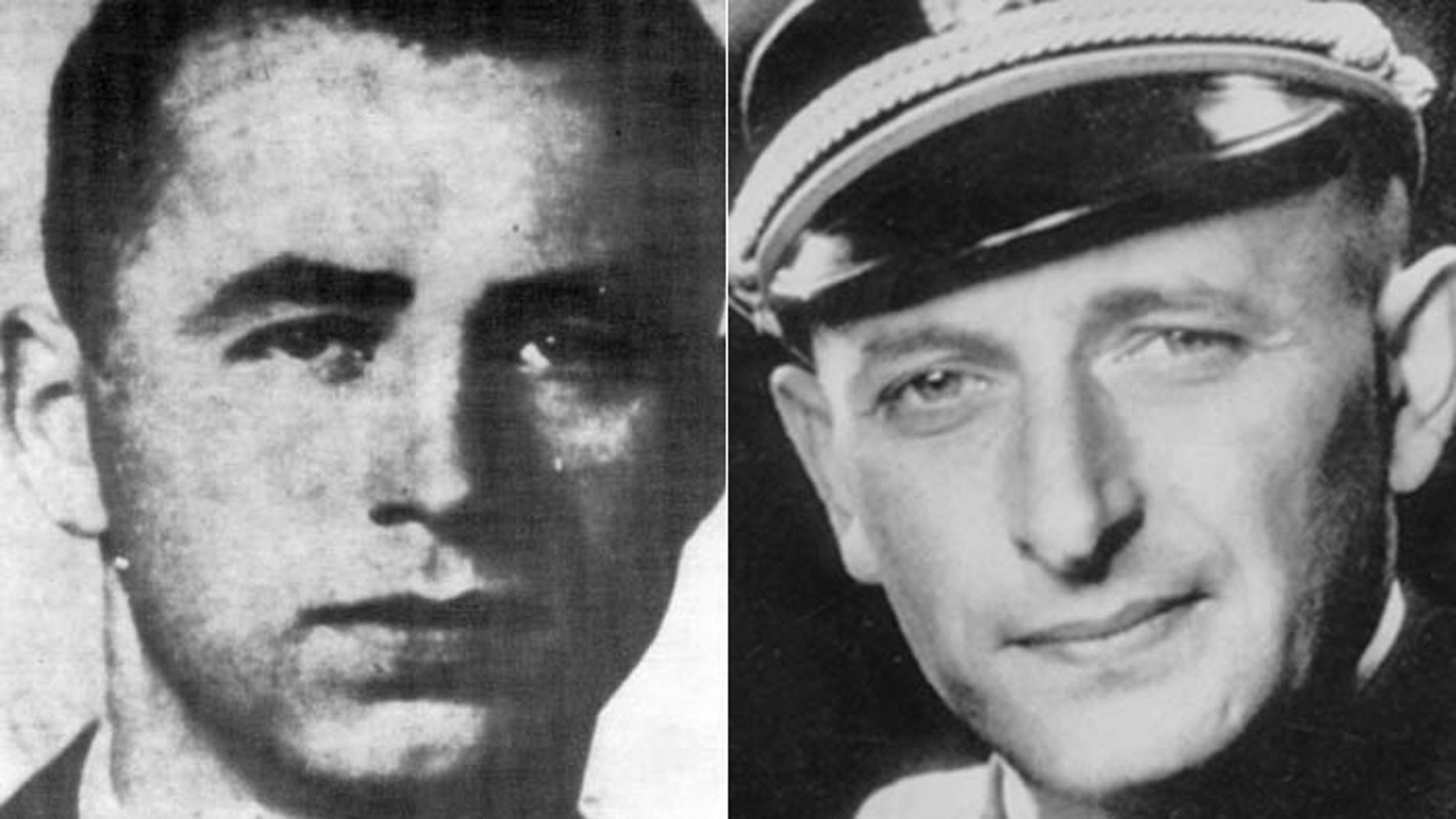 """Long-wanted Nazi war criminal Alois Brunner, (l.), who Adolf Eichman, (r.), called """"one of my best men,"""" likely died four years ago in Syria, according to the man who tracked him for decades."""