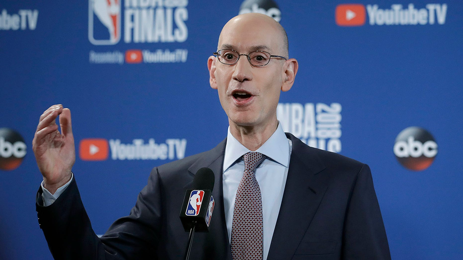 NBA commissioner Adam Silver addressed the league's national anthem policy.