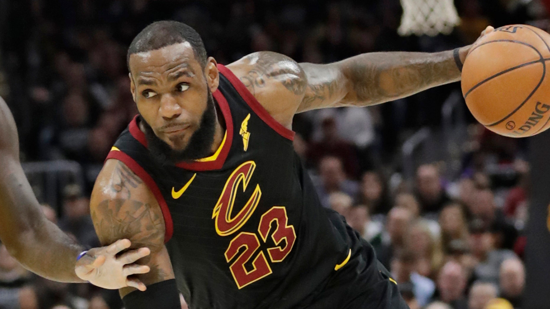 2b3ff682bbb Cleveland Cavaliers star LeBron James drives against the Indiana Pacers  during Game 7 of a first