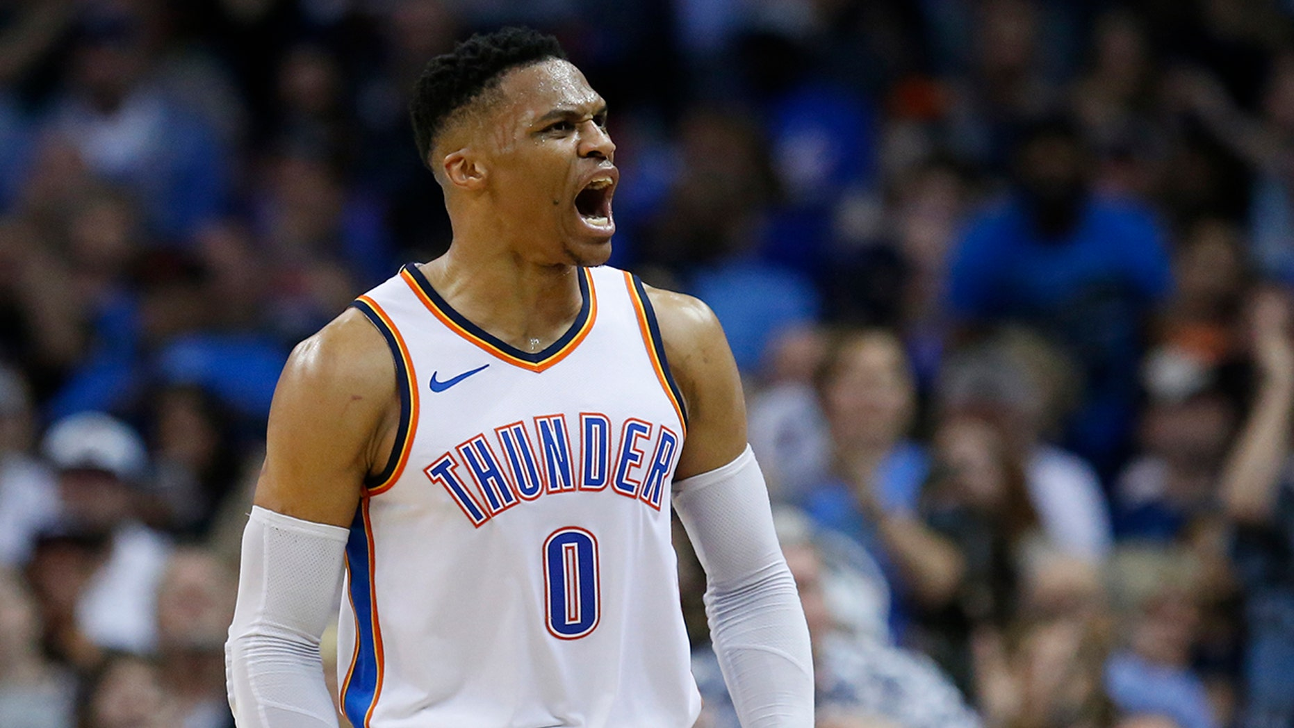 """The Oklahoma City Thunder criticized a broadcaster Thursday for using the term """"cotton-picking"""" to describe Russell Westbrook's play in the team's season finale."""