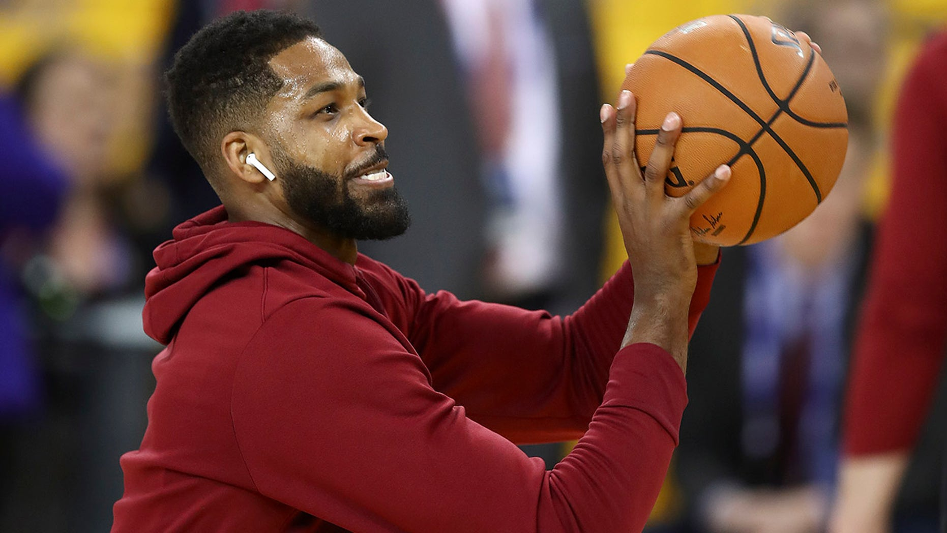 Tristan Thompson didn't appreciate a question about Stephen Curry.