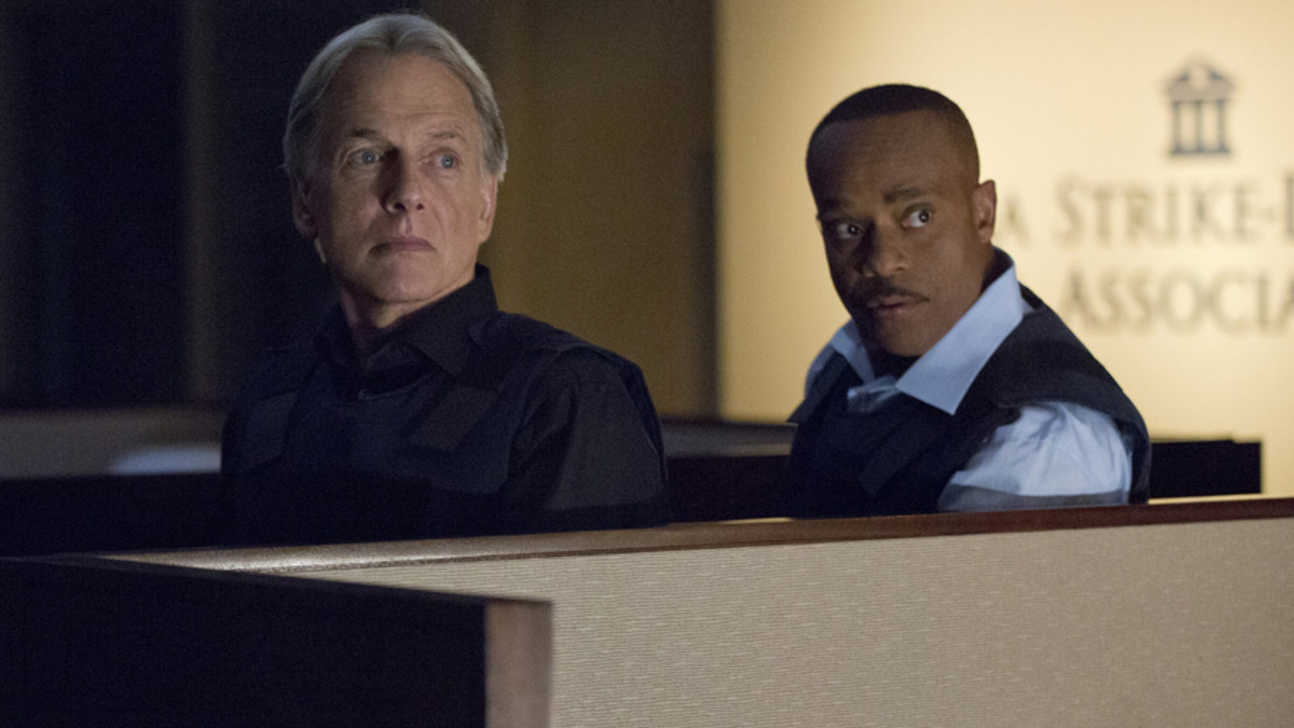 Vance (Rocky Carroll, right) partners with Gibbs (Mark Harmon, left) and returns to field duty when a murder case is connected to a former NCIS agent he locked up for stealing evidence, on NCIS, Tuesday, Oct. 13 on the CBS Television Network.
