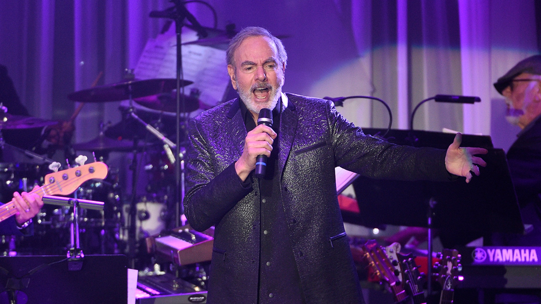 Neil Diamond, seen here in February 2017, has announced he'll retire from touring.