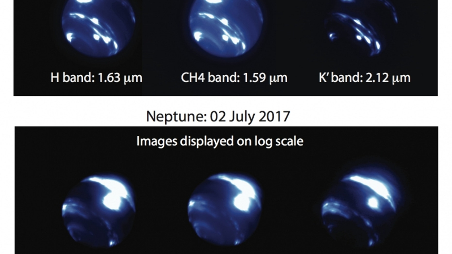 Researchers observing Neptune with the Keck Observatory spotted a massive, bright cloud complex crossing the planet's equator. It brightened considerably between June 26 and July 2.