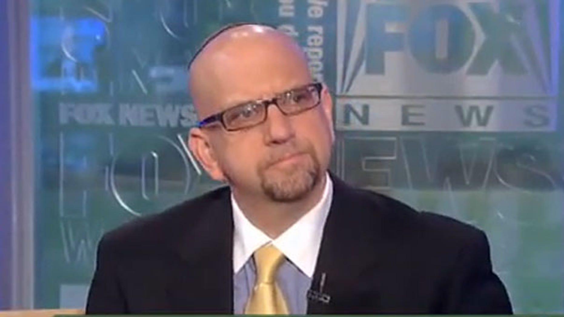 Shown here is Rabbi David Nesenoff, who shot video of Helen Thomas criticizing Israel in May. (FNC)