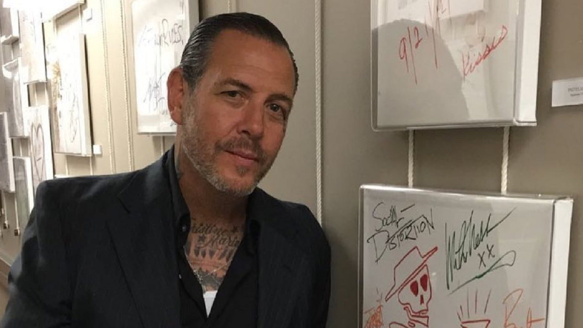 Mike Ness, 56, is the lead singer of the punk rock band Social Distortion.