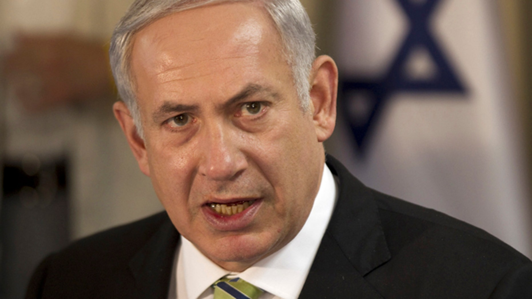 Oct. 30, 2011: Israeli Prime Minister Benjamin Netanyahu heads the weekly cabinet meeting convening in Safed, northern Israel.