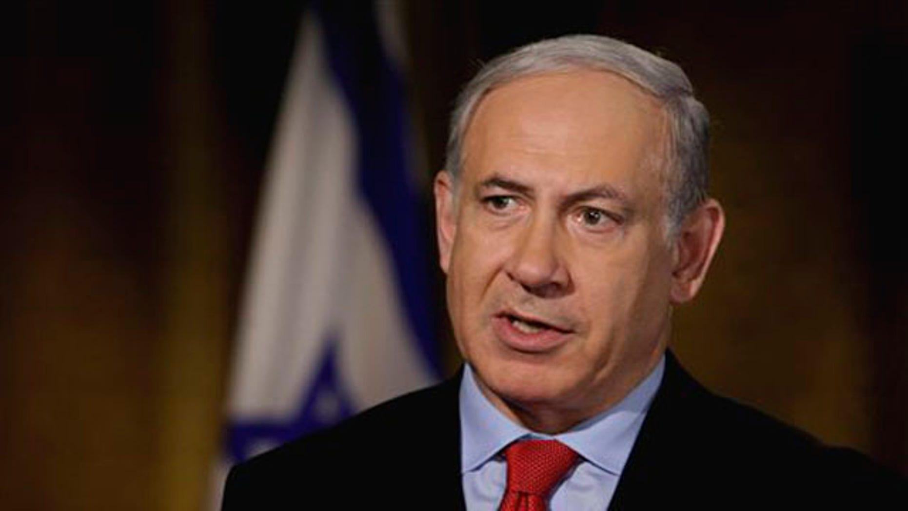 "Israeli Prime Minister Benjamin Netanyahu is interviewed by ""Fox News Sunday"" in New York on July 8. (AP Photo)"