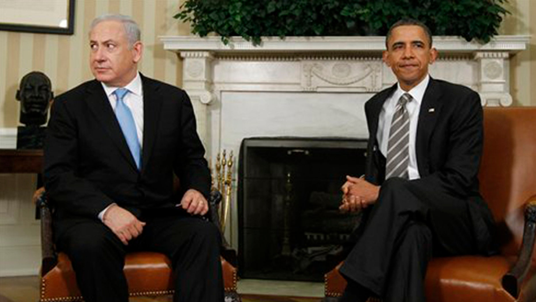 FILE: May 20, 2011: President Obama meets with Israeli Prime Minister Benjamin Netanyahu in the Oval Office in Washington .