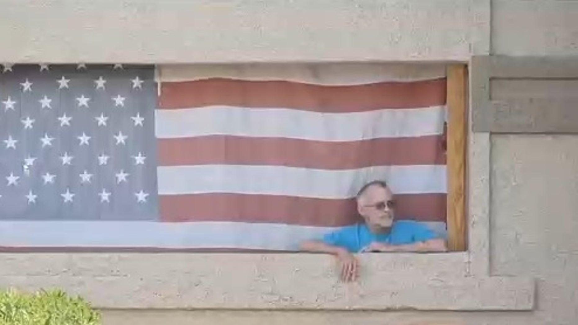 Ken Jackson at his apartment in Nevada.