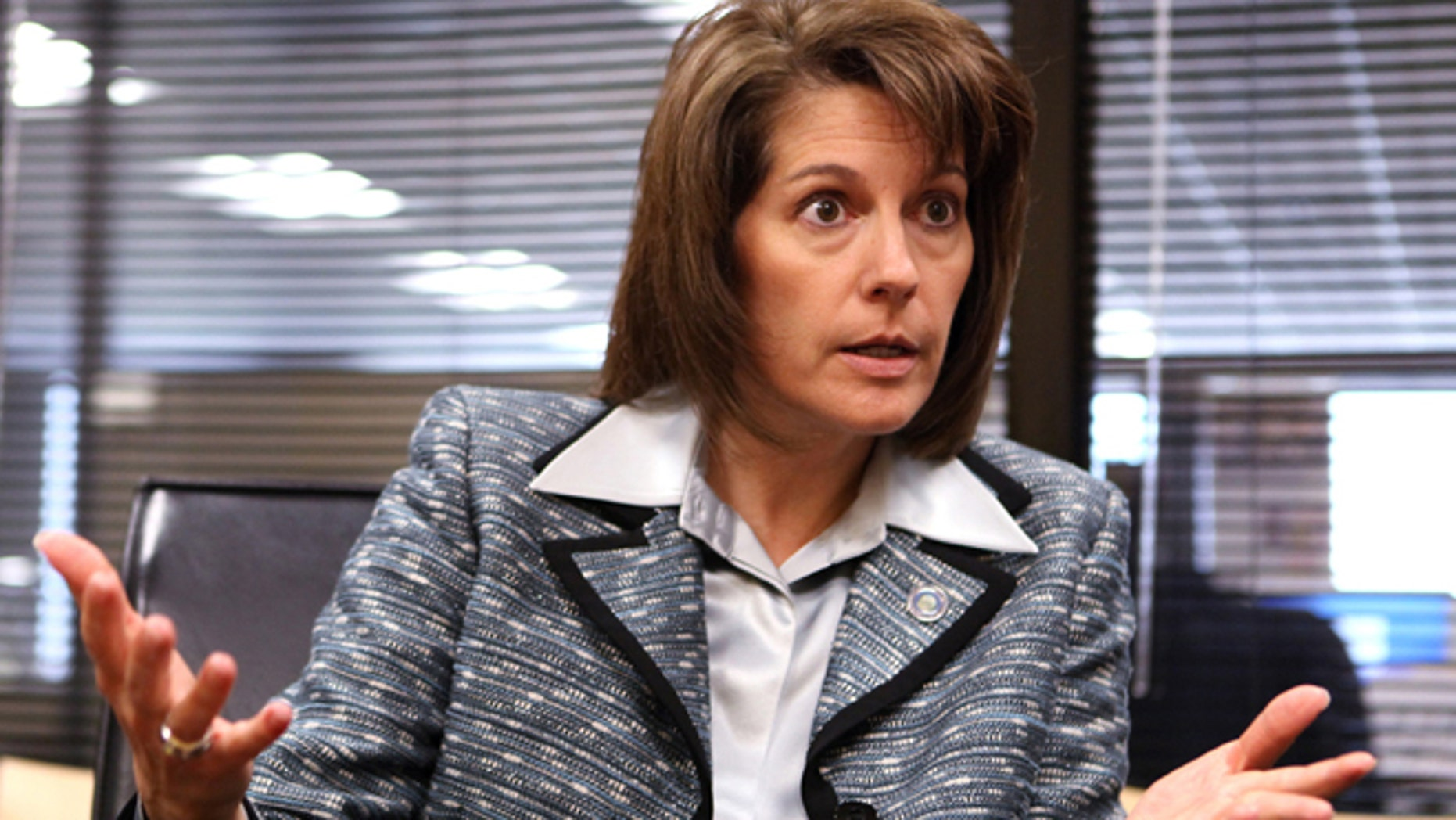 Sept. 24, 2012: Nevada Attorney Gen. Catherine Cortez Masto speaks to an editorial board at the Las Vegas Sun offices in Henderson, Nev.