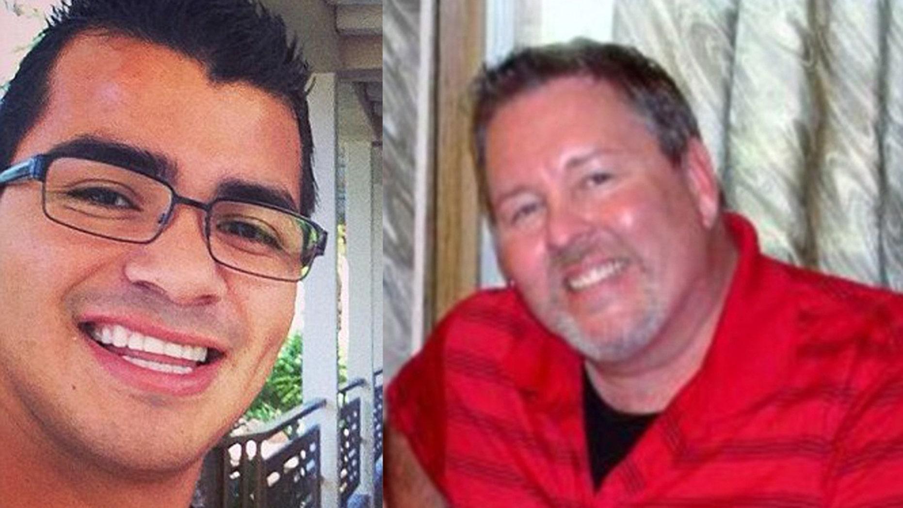 David Meza, left, was sentenced for murdering his boyfriend Jake Merendino, right.