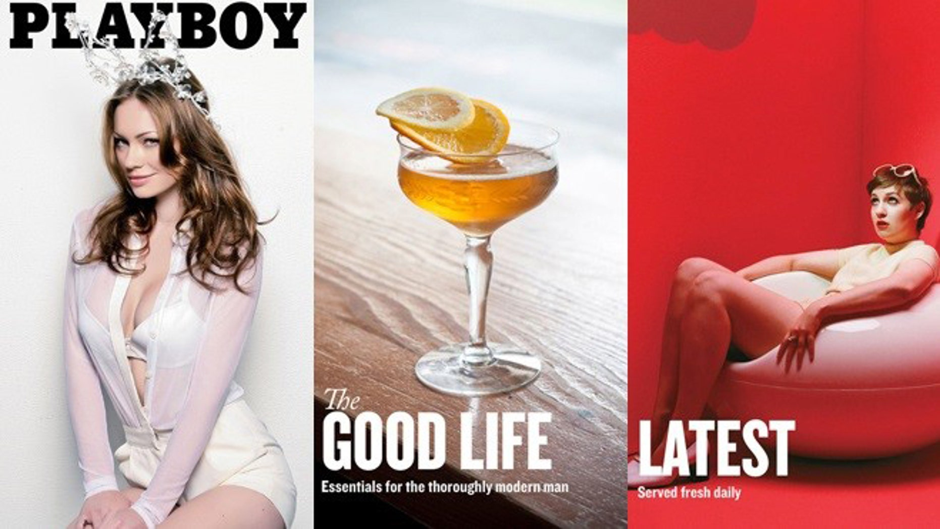 Playboy Playmate Kim Phillips, a feature on cocktails, and HBO comedy 'Girls' creator Lena Dunham -- just some of the non-nude content featured in Playboy's new iPhone app.