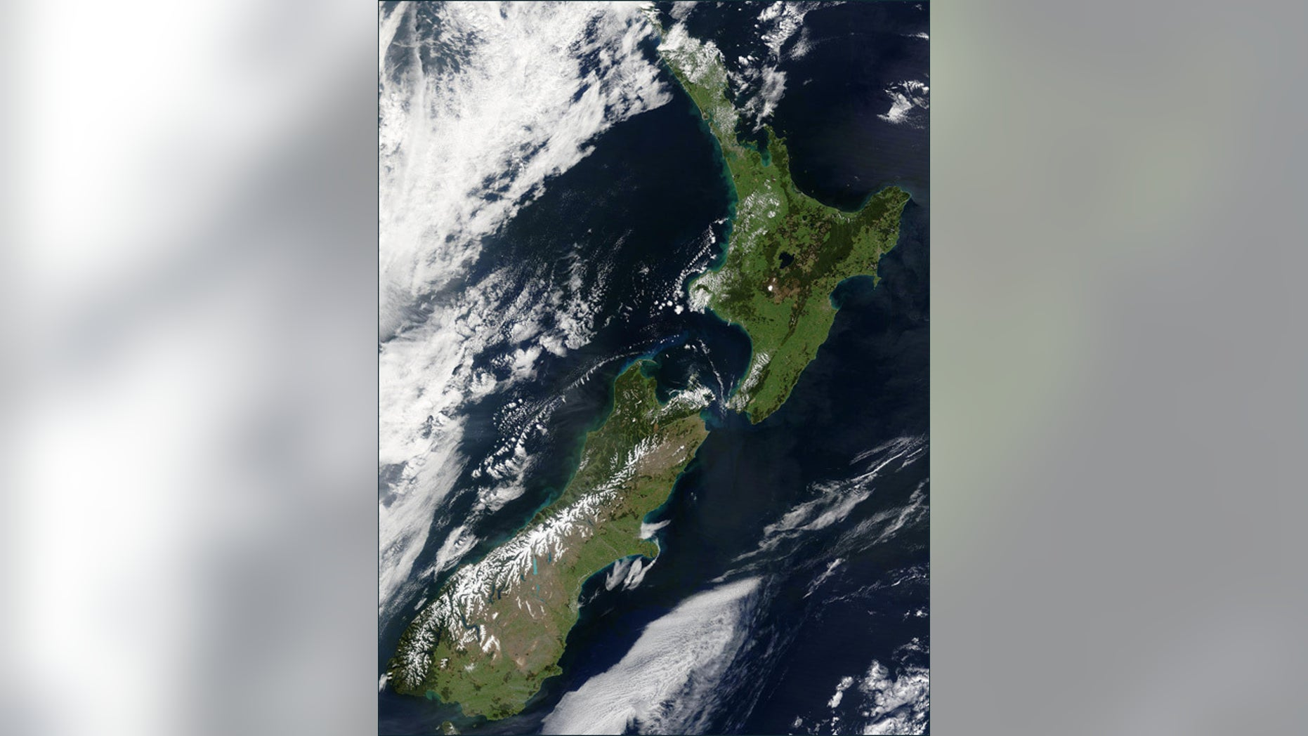 New Zealand from space.