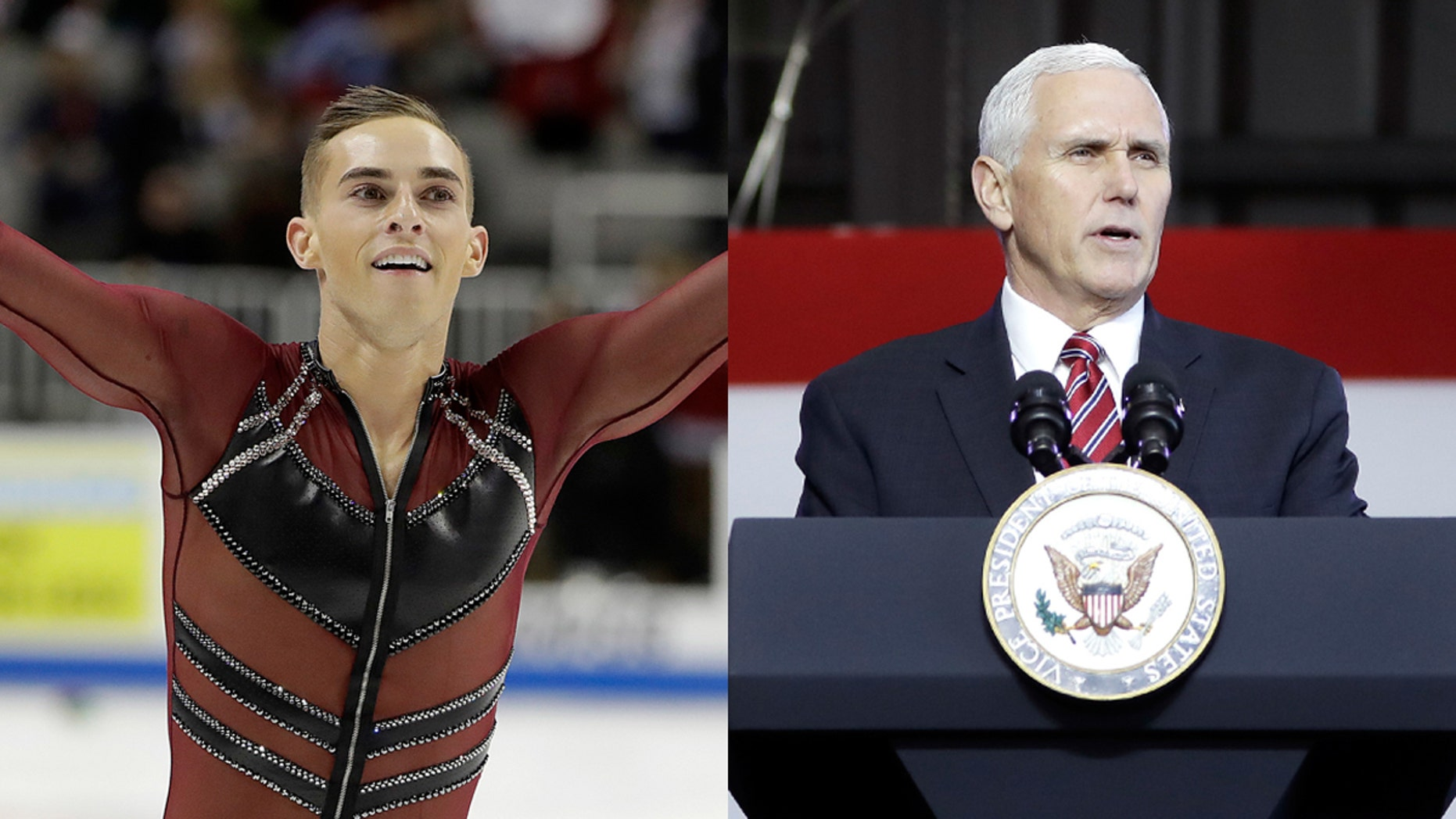 US Olympic figure skater Adam Rippon reportedly shot down the chance to meet with Vice President Pence, but Pence still cheered Rippon on Twitter Wednesday night.