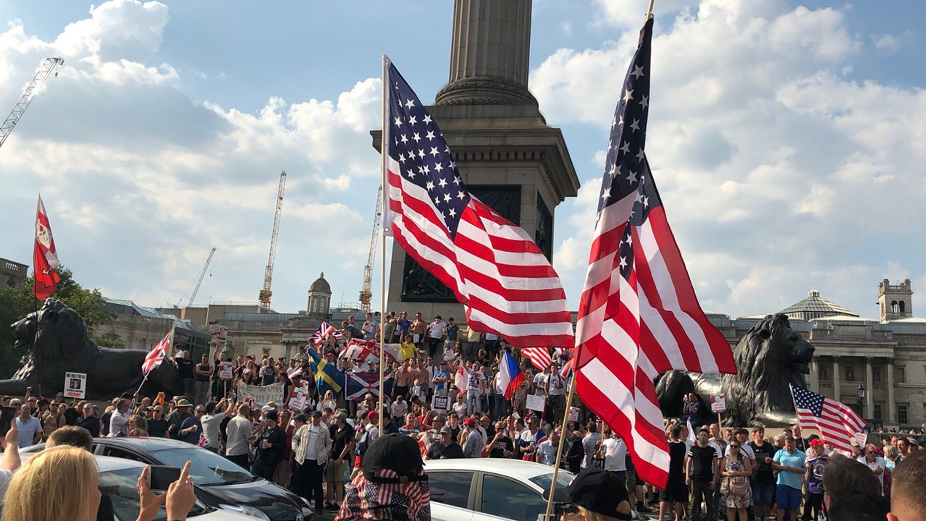 Pro-Trump supporters took to the streets on Saturday.