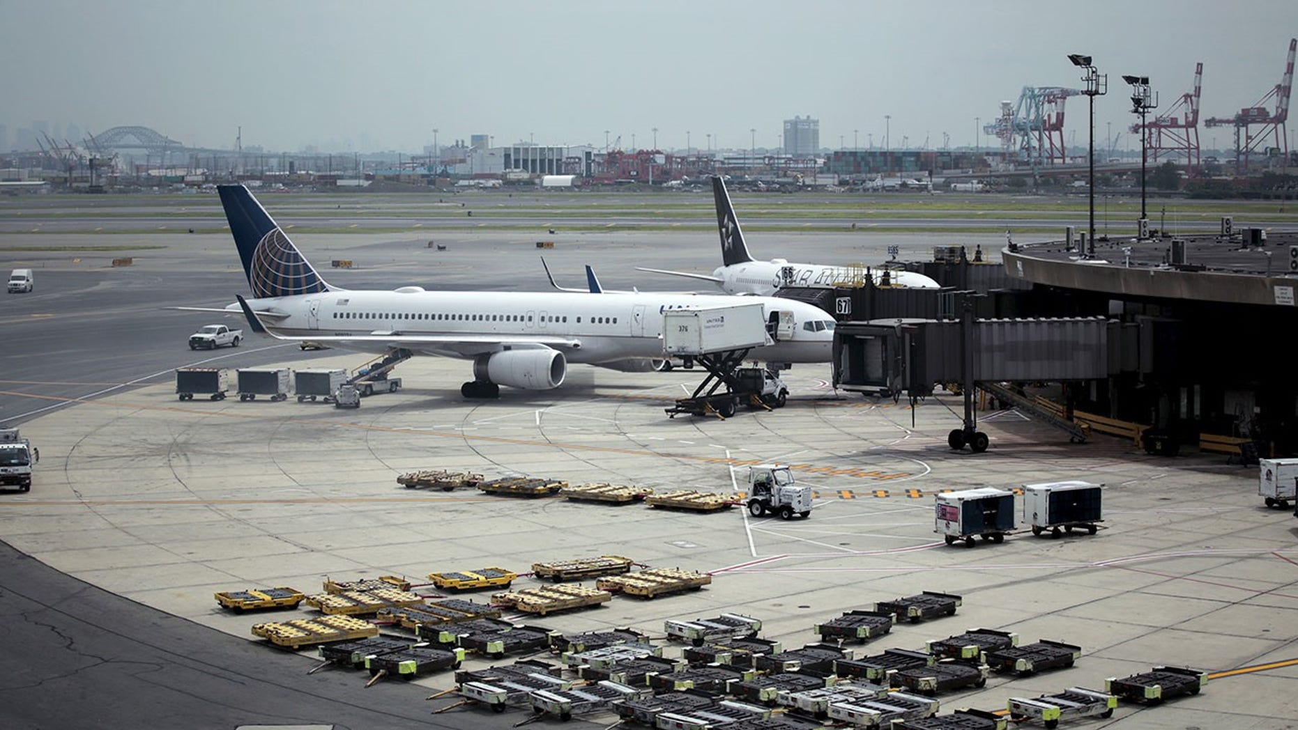 Officers working out of Newark Liberty International Airport have been arrested for hazing.